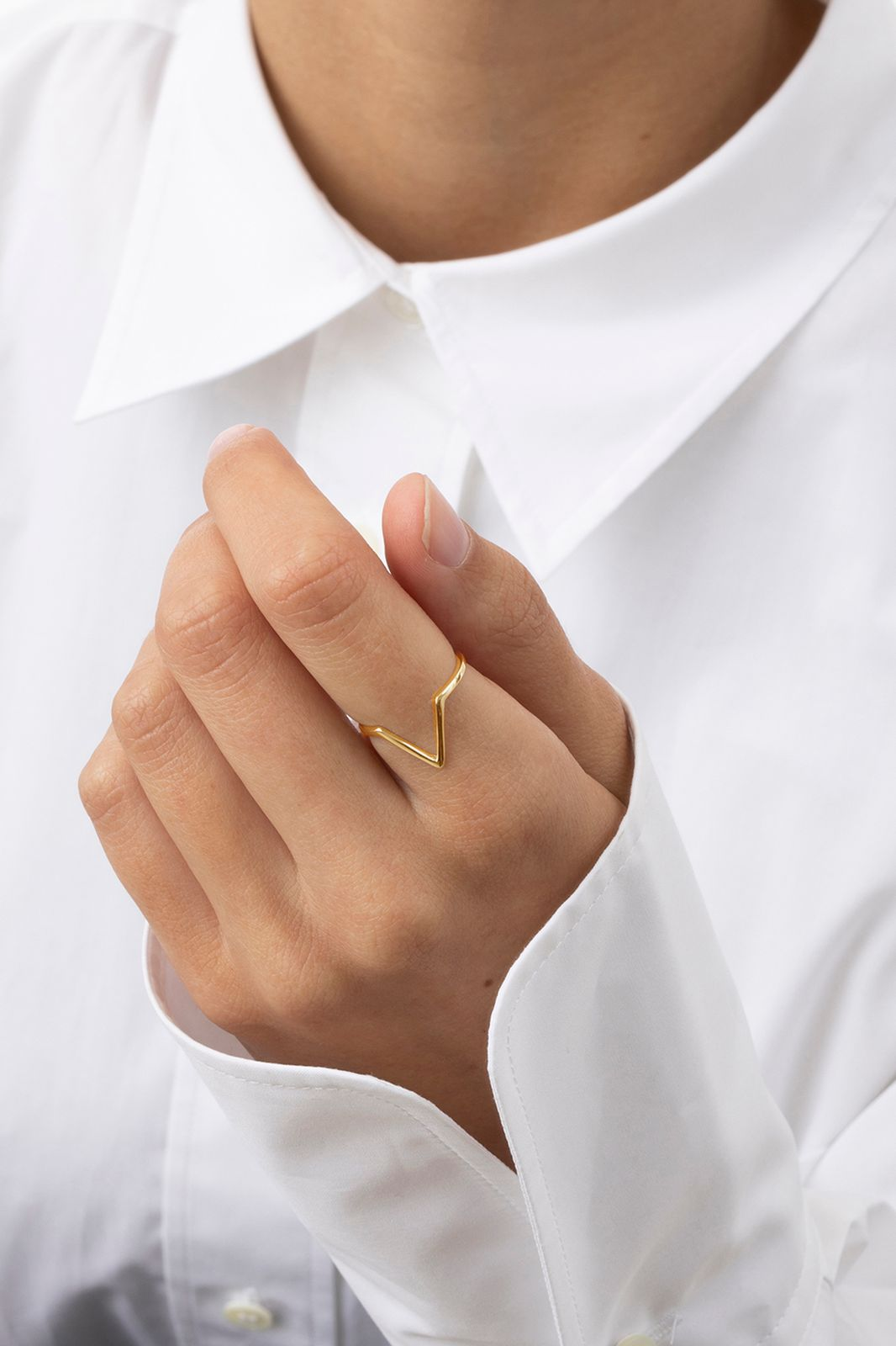 A Brend Goldplated ring Adeline