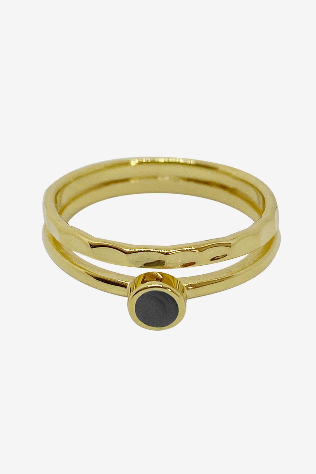 A Brend goldplated ring Fele - Dames | Sissy-Boy
