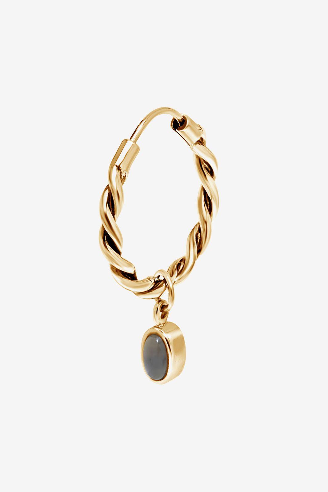 A Brend goldplated oorbel Olma