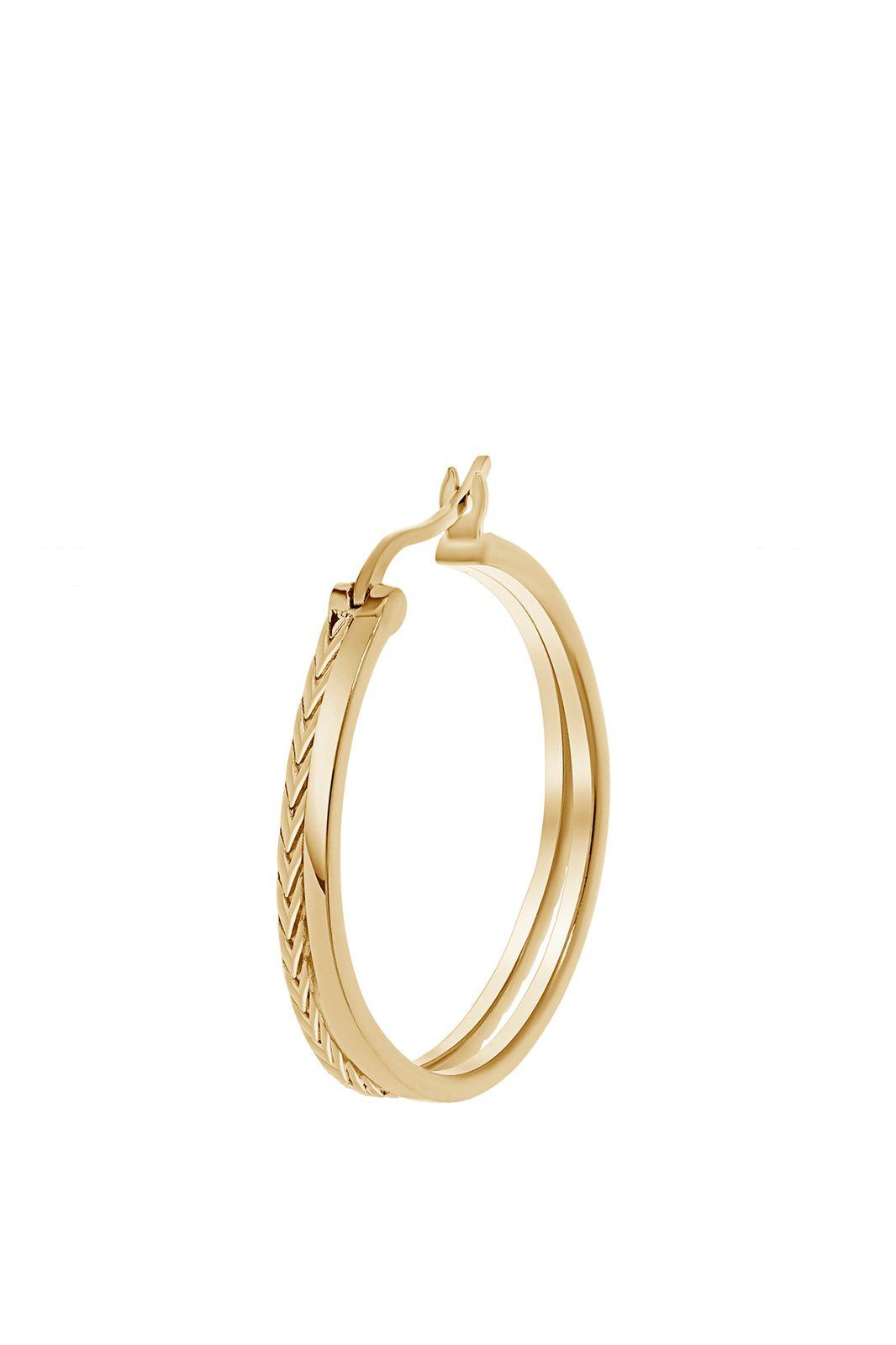 A Brend goldplated hoop oorbel Noes - Dames   Sissy-Boy