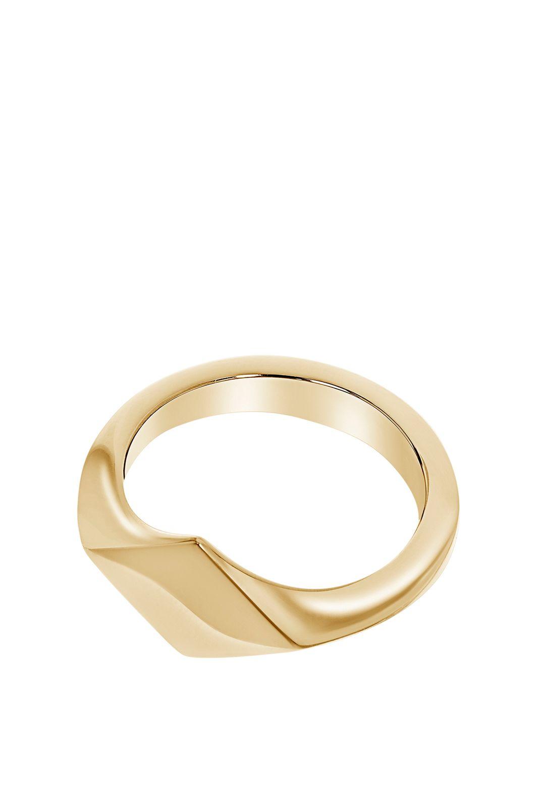 A Brend goldplated ring Tedd - Dames | Sissy-Boy