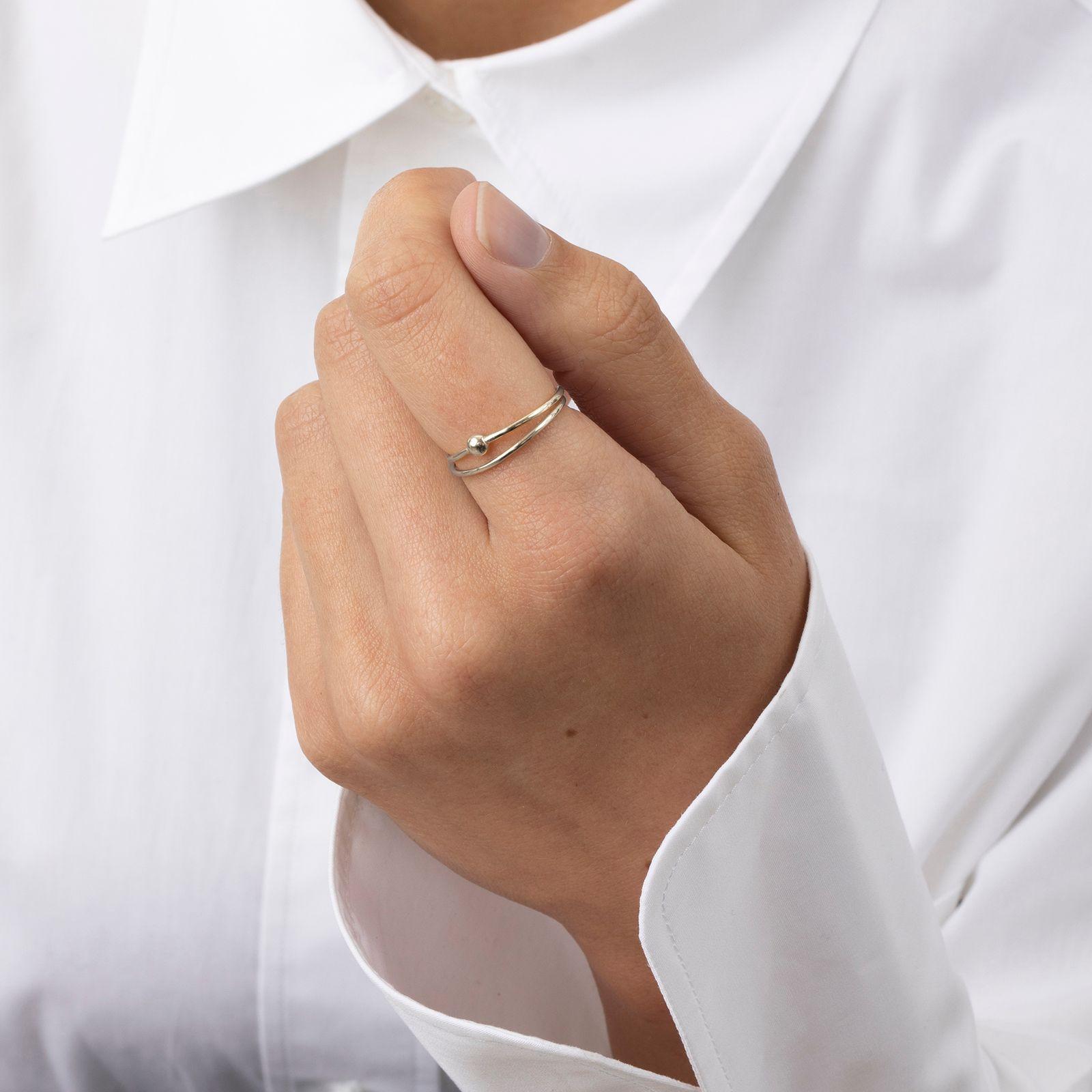 A Brend Zilveren ring Bjell - Dames | Sissy-Boy