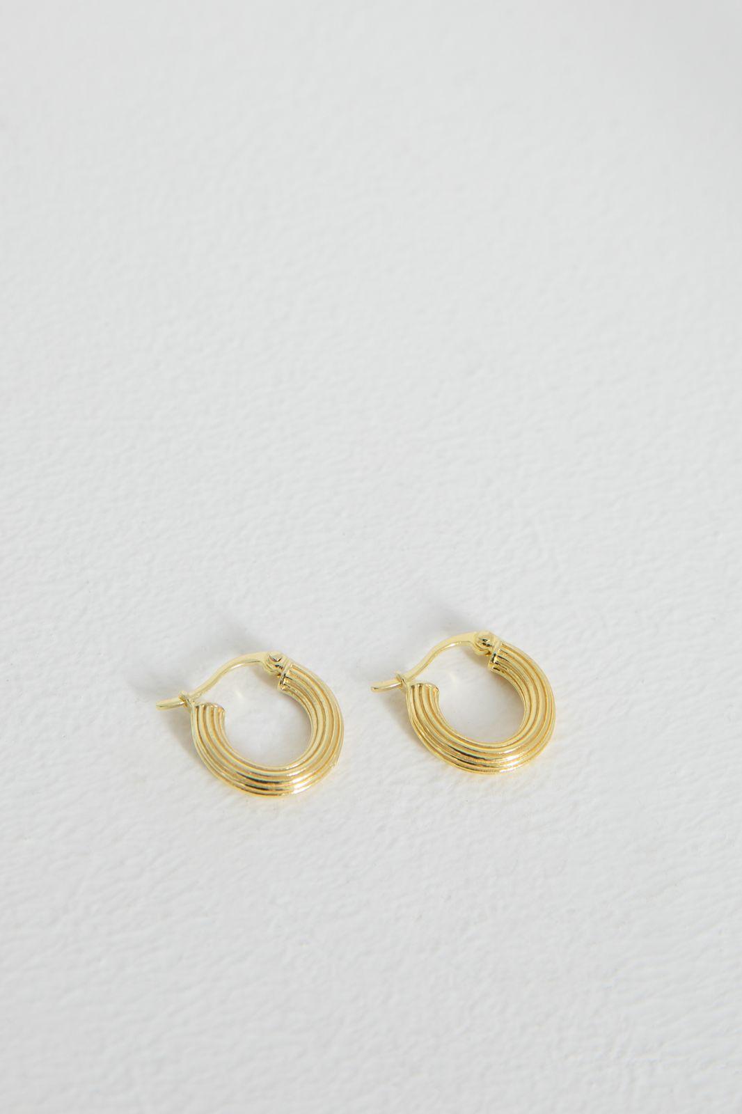 Anna+Nina Pyramid Ring Earrings Goldplated - Dames | Sissy-Boy