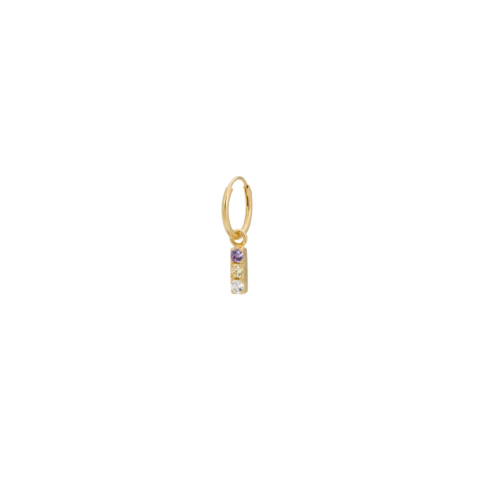 Anna+Nina SINGLE ZIRCONIA STRING EARRING goldplated - Dames | Sissy-Boy