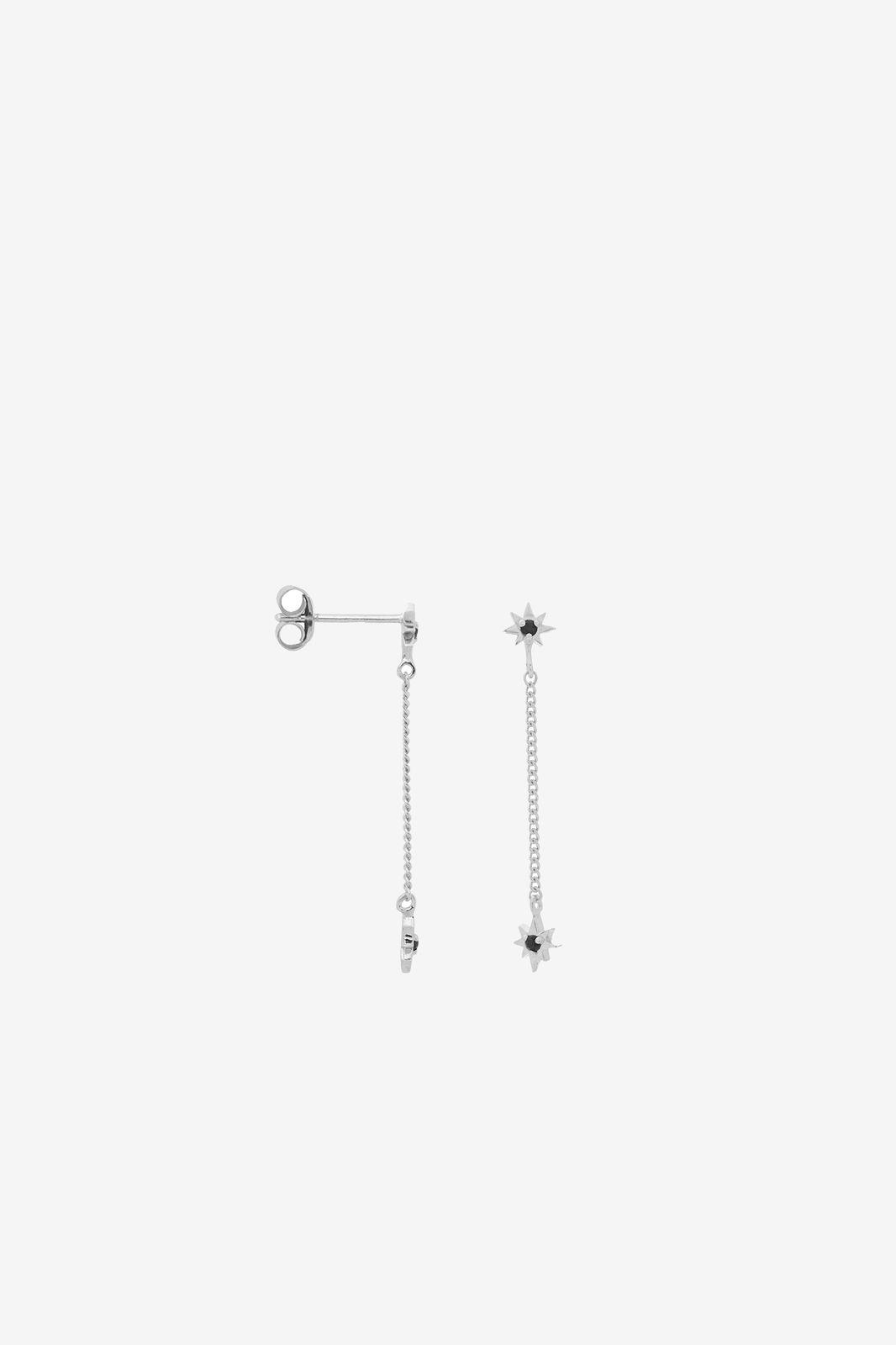 Anna+Nina single falling star chain stud earring silver - Dames | Sissy-Boy