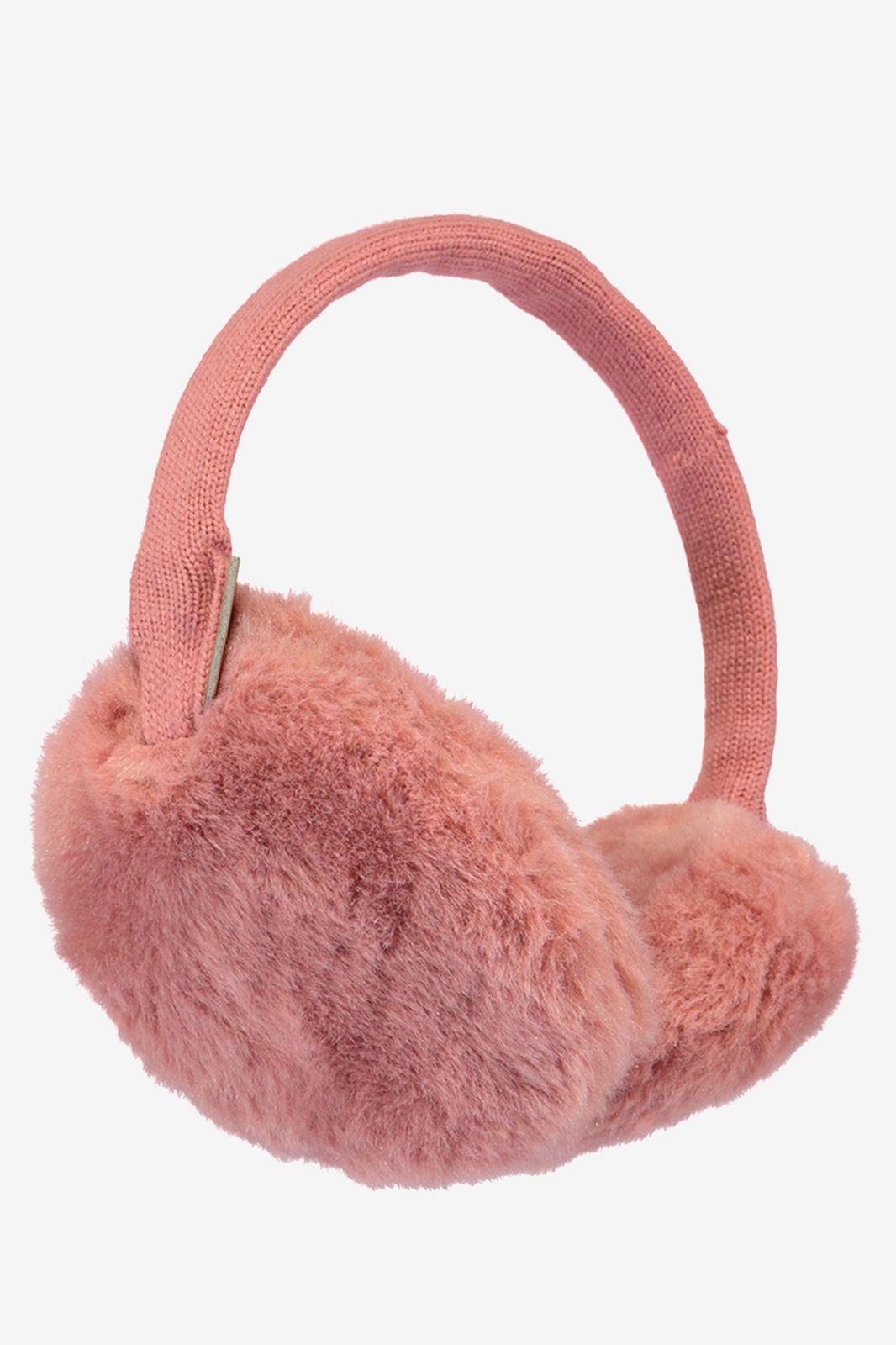 Barts plush oorwarmers roze