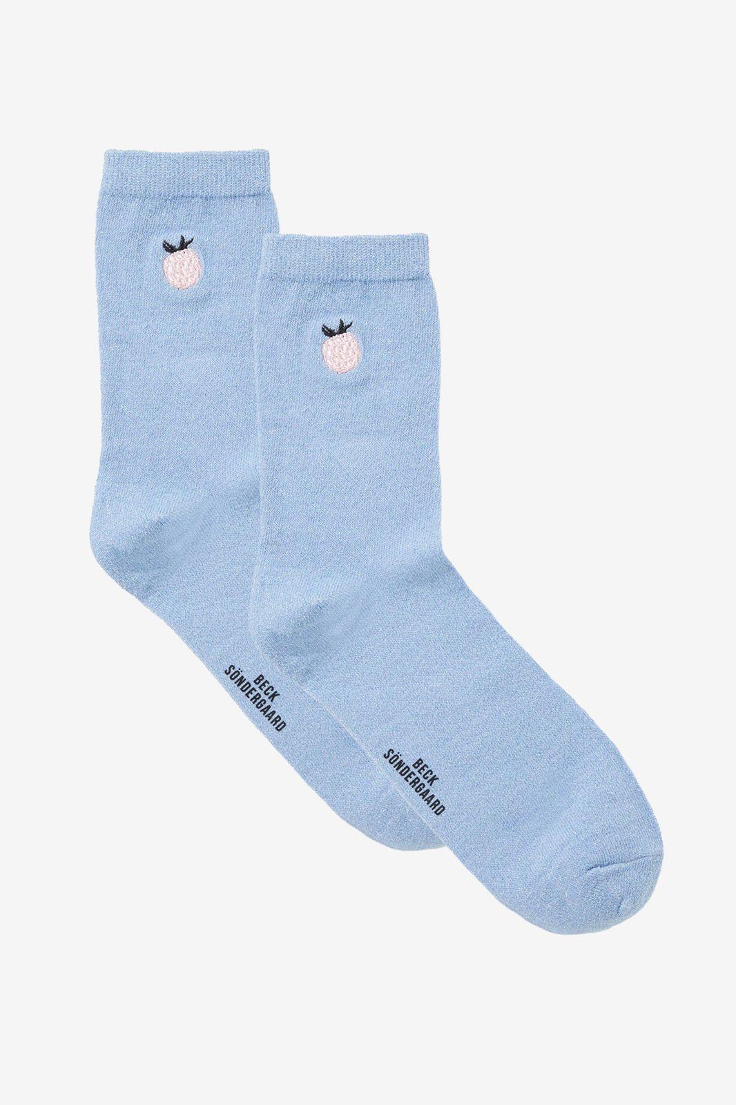 Becksondergaard lichtblauwe frutie glam socks