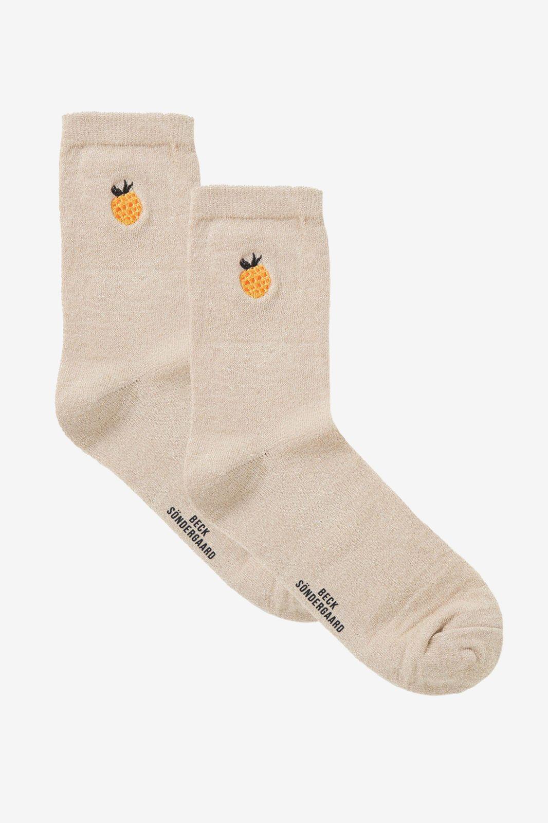 Becksondergaard beige frutie glam socks - Dames | Sissy-Boy