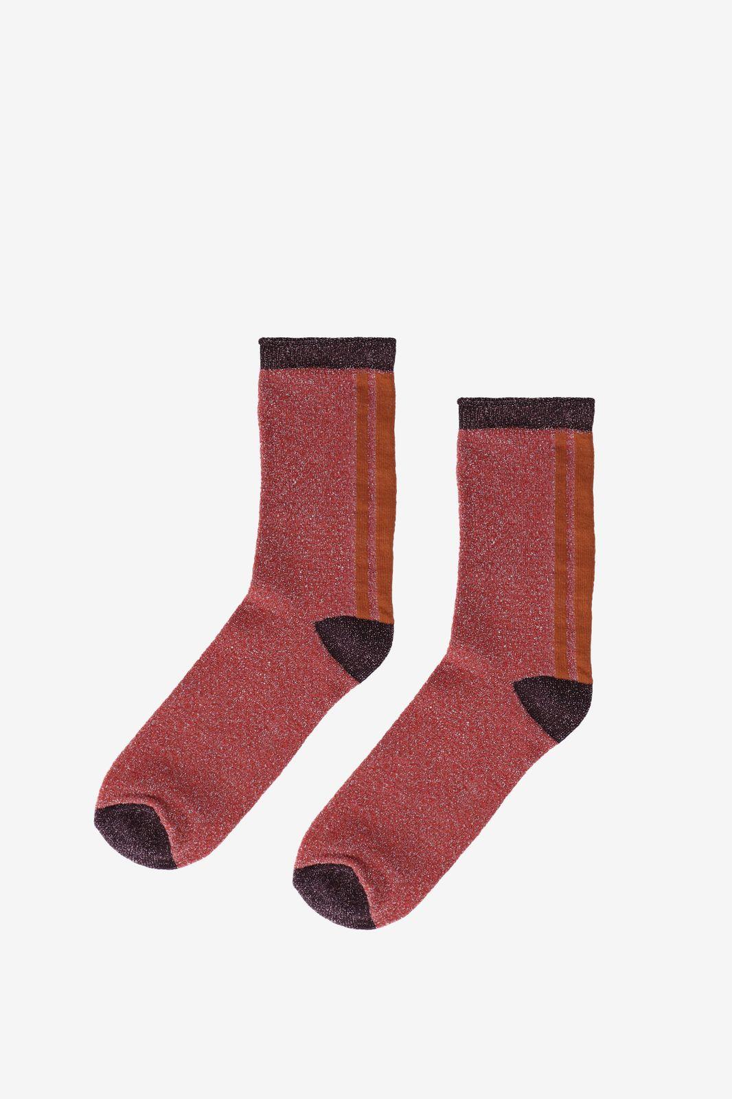 Becksöndergaard roze sokken met lurex - Dames   Sissy-Boy