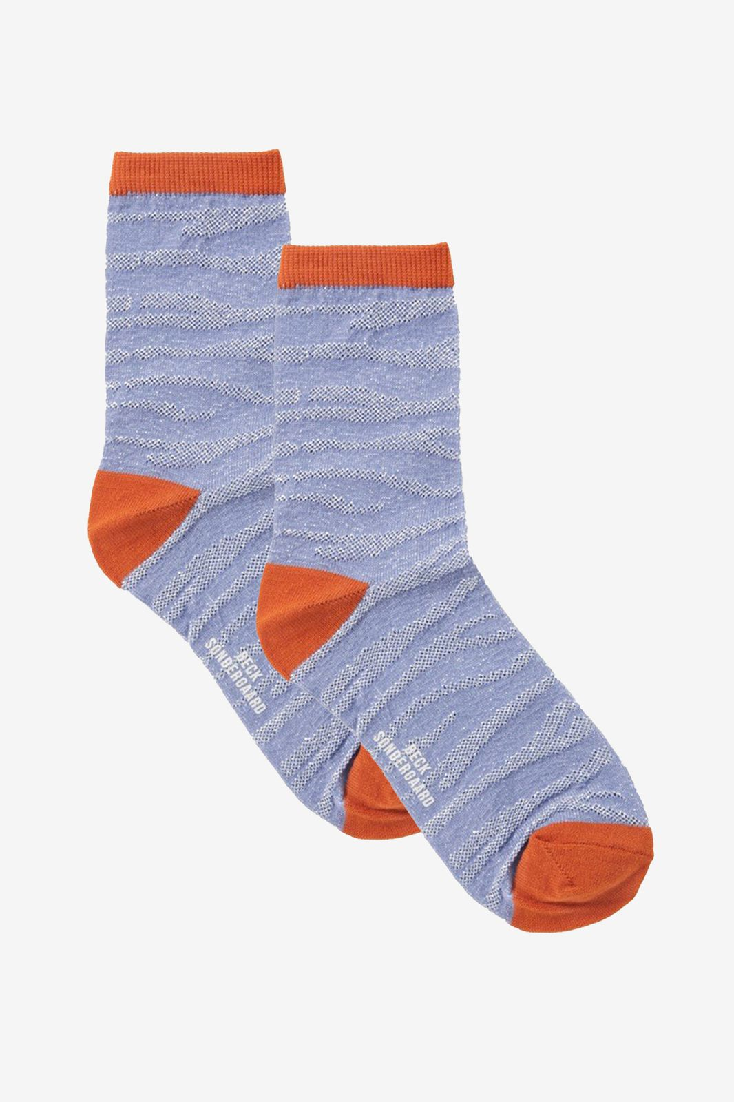 Becksondergaard lichtblauwe zebra glitzi socks - Dames | Sissy-Boy
