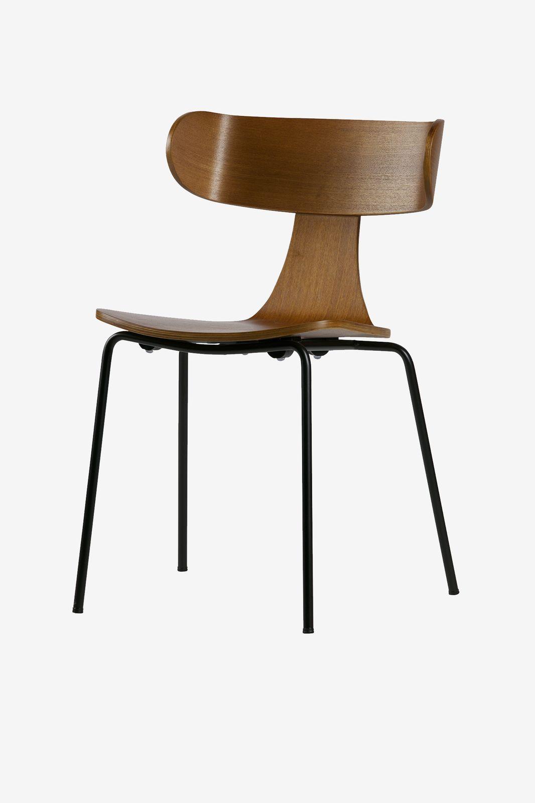 BePureHome Form houten eetkamerstoel bruin (set van 2)