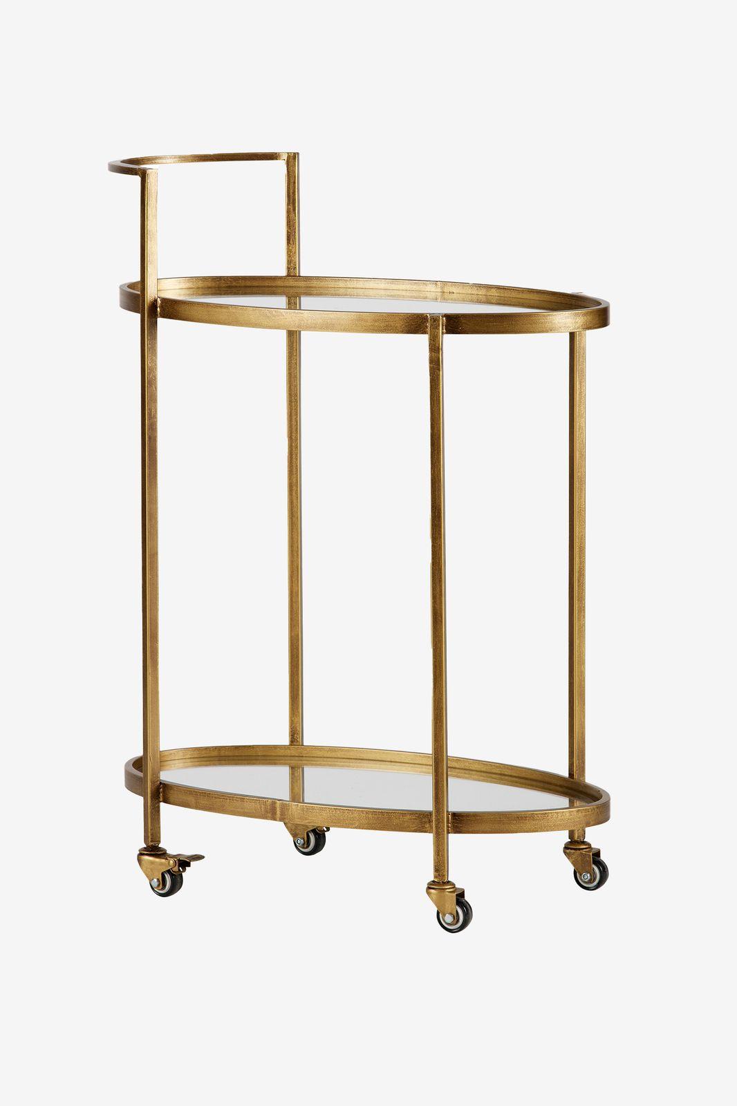 BePureHome goudkleurige push trolley metaal - Homeland | Sissy-Boy