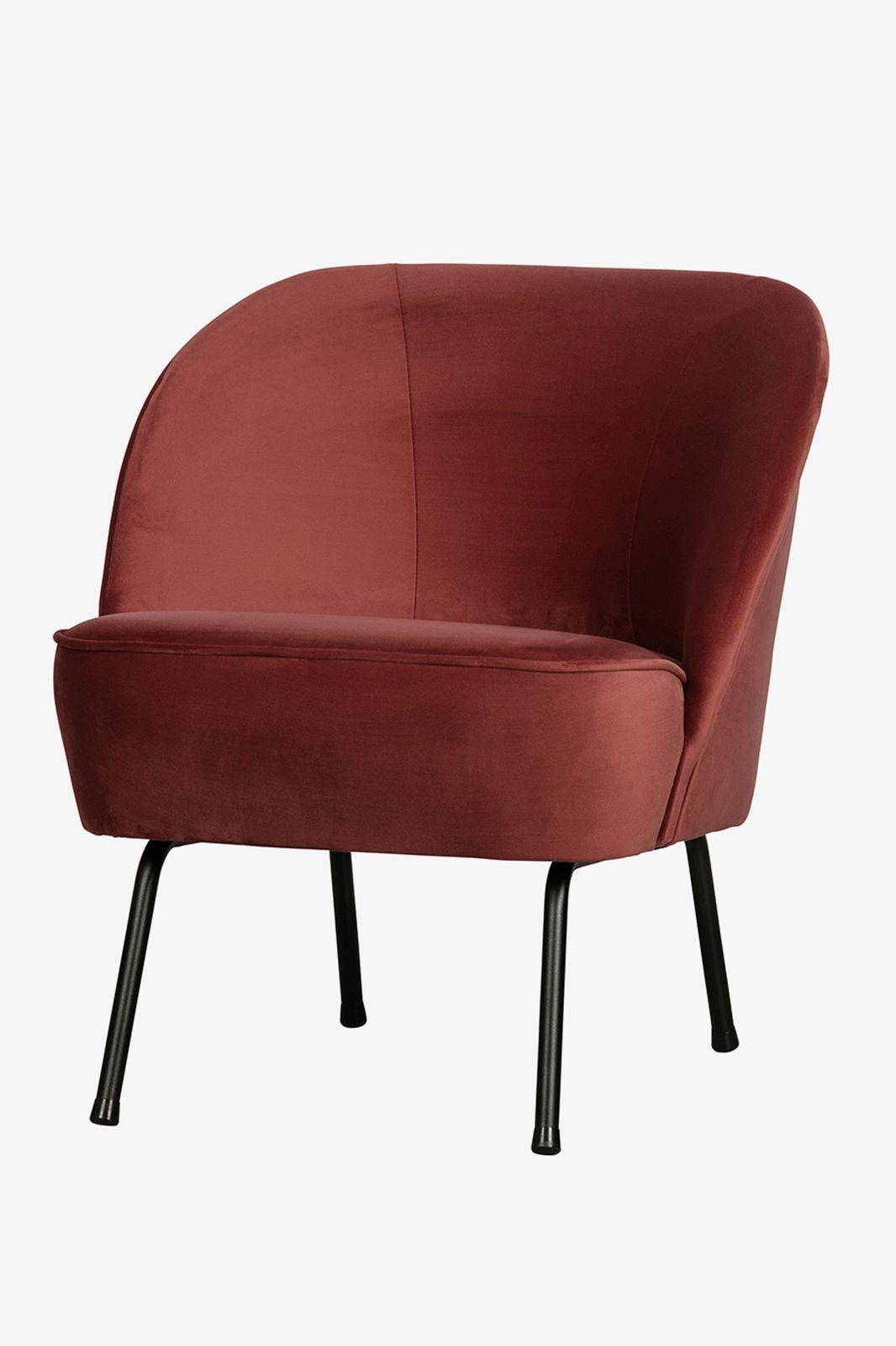 BePureHome Vogue fauteuil fluweel bruin - Homeland | Sissy-Boy
