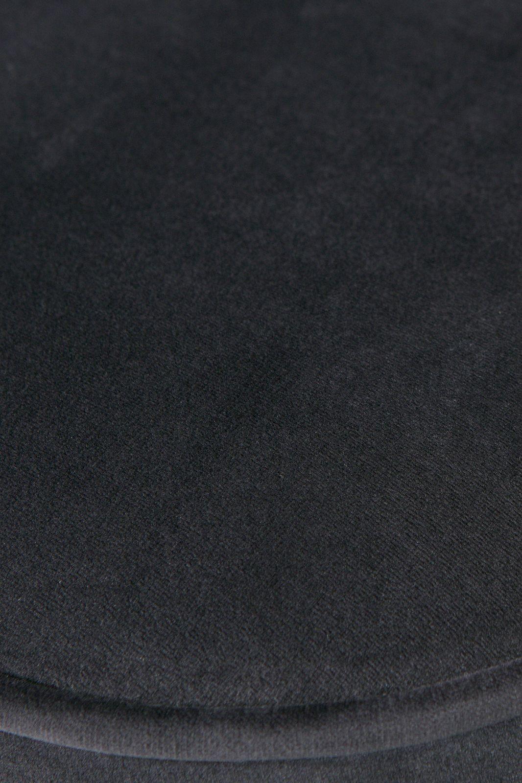 BePureHome Vogue hocker fluweel donkerblauw