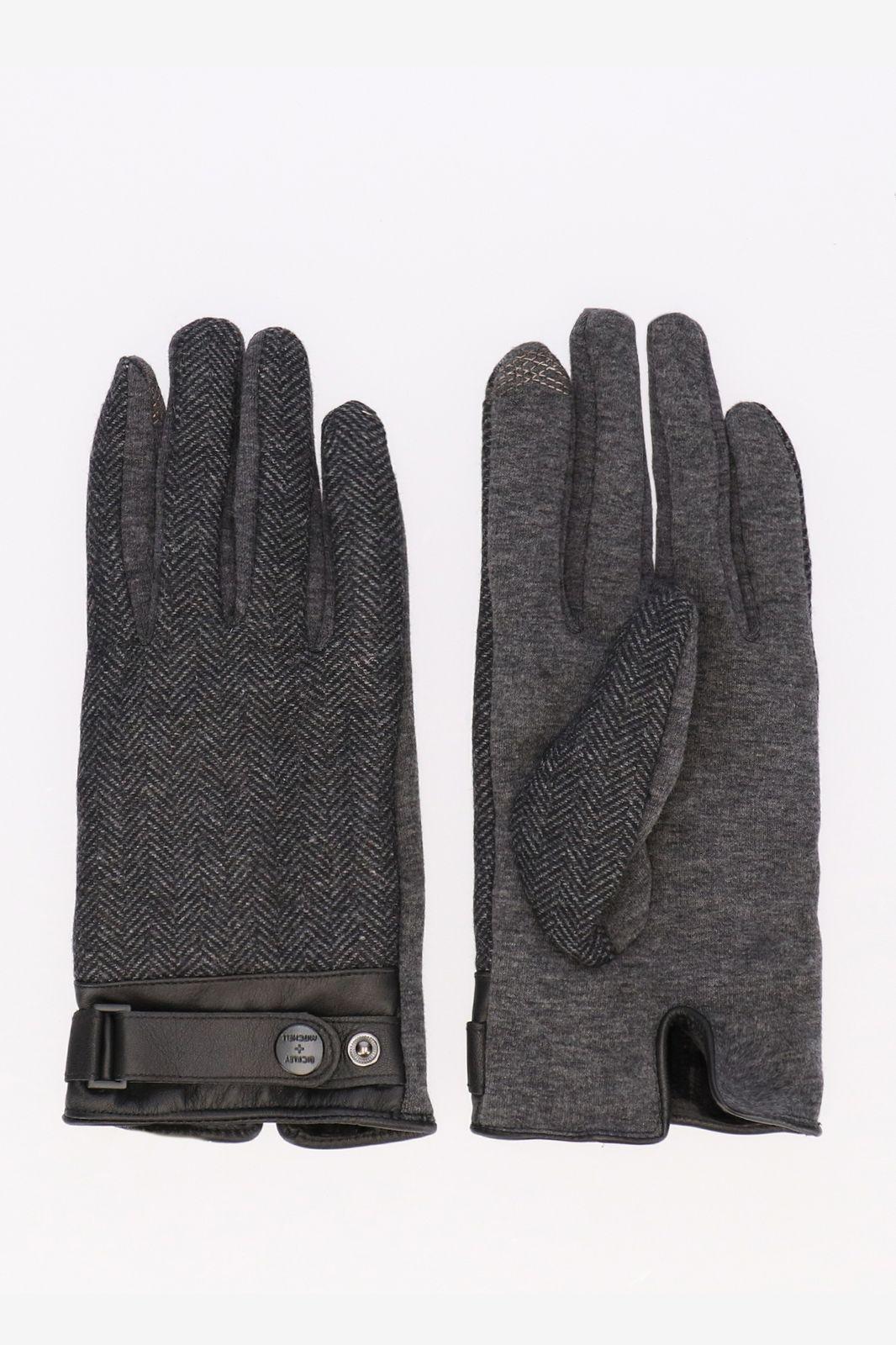 Bickley and Mitchell donkergrijze handschoenen - Heren | Sissy-Boy