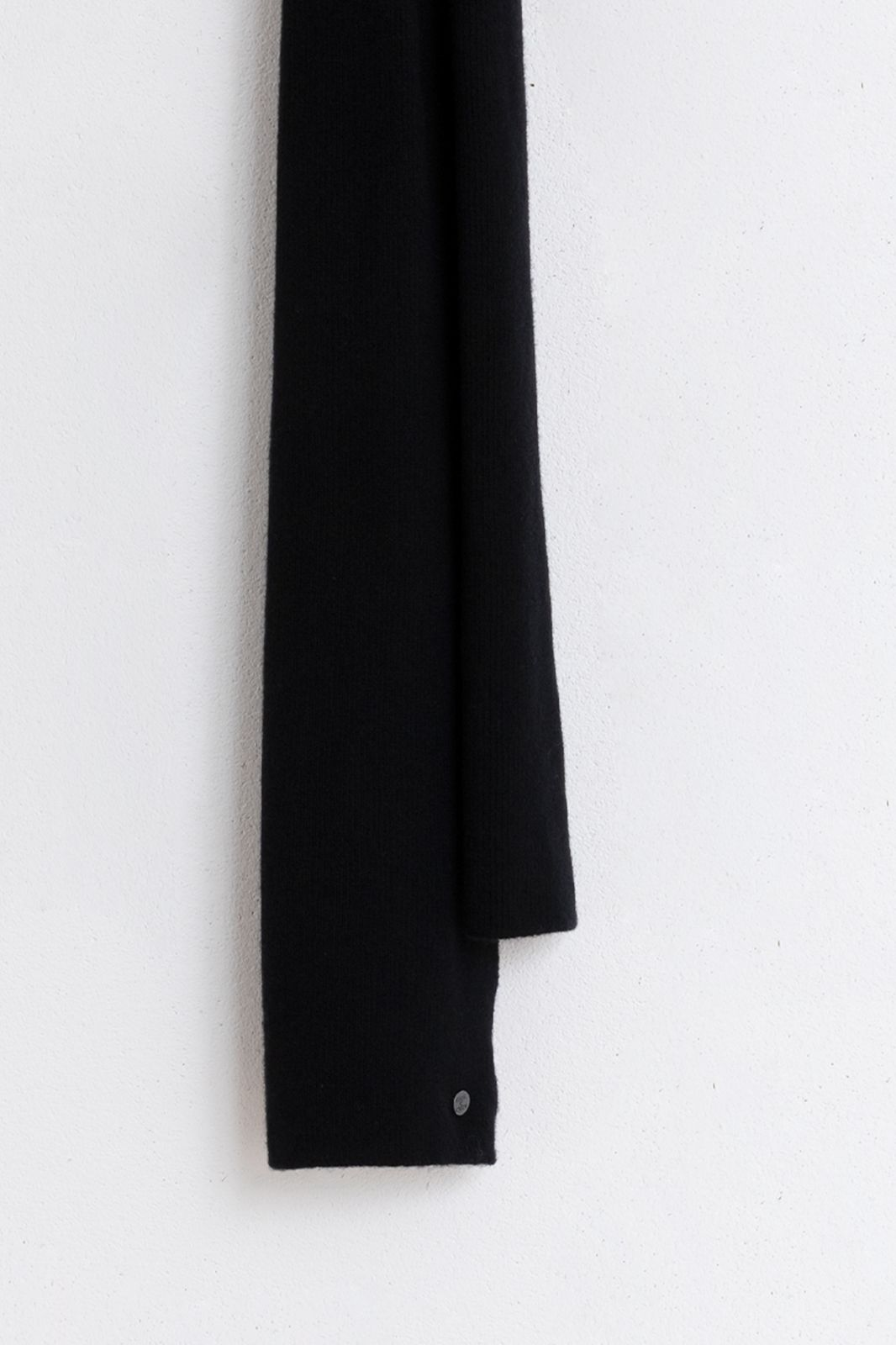 Bickley and Mitchell cashmere-merino zwarte sjaal - Heren | Sissy-Boy