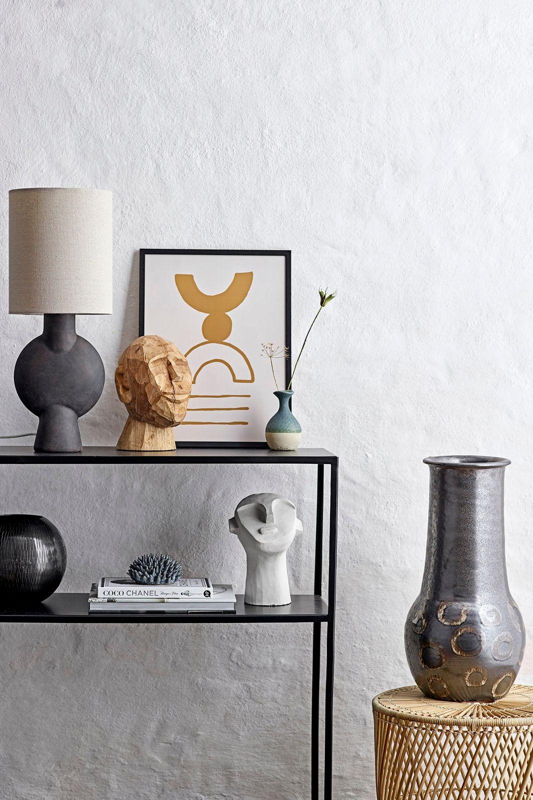 Bloomingville tafellamp terracotta donkerbruin