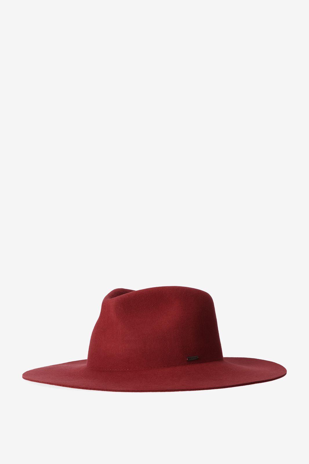 Brixton maya fedora hoed rood