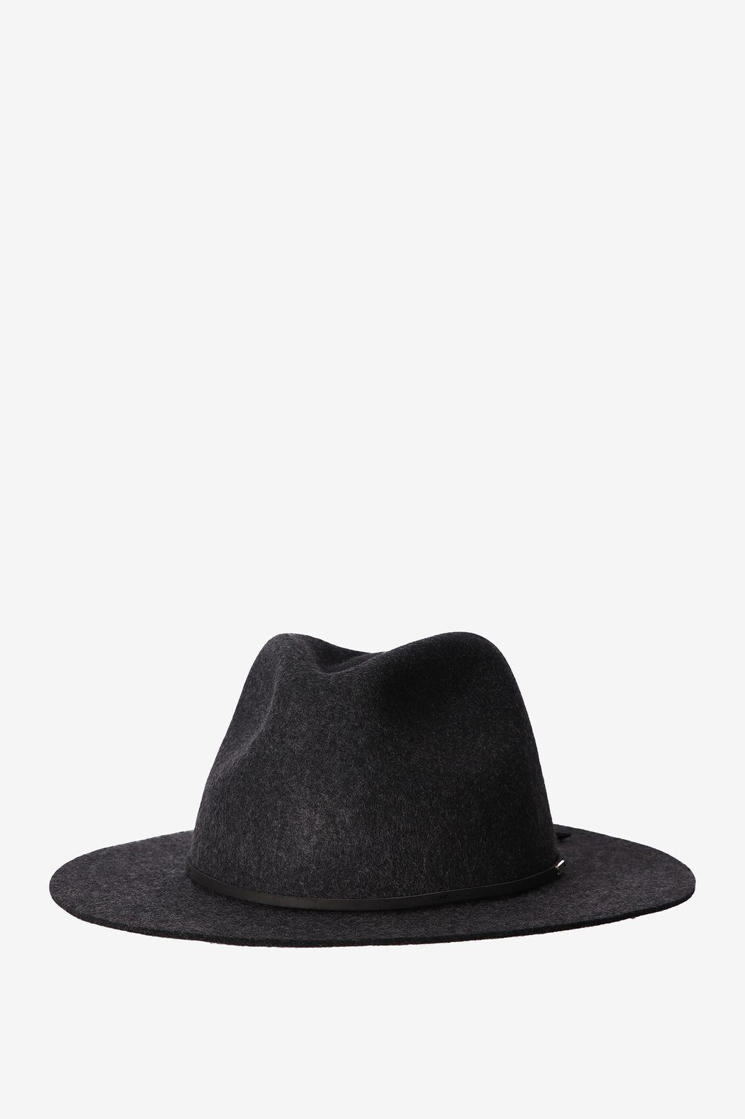 Brixton Wesley fedora hoed zwart