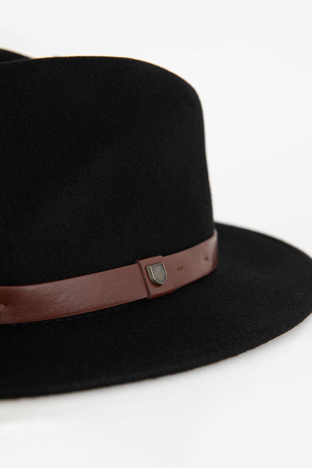 Brixton hoed met bruin leren riempje - Heren   Sissy-Boy