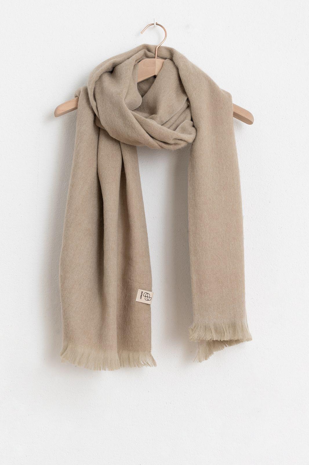 Bufandy sjaal brushed solid beige - Dames | Sissy-Boy