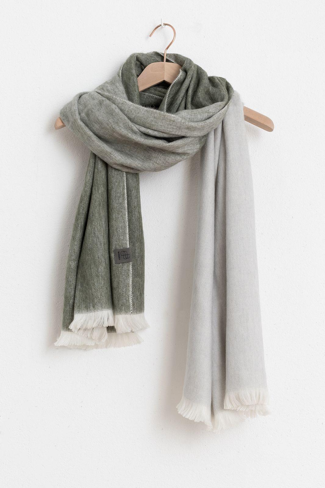 Bufandy sjaal brushed ombre grijs