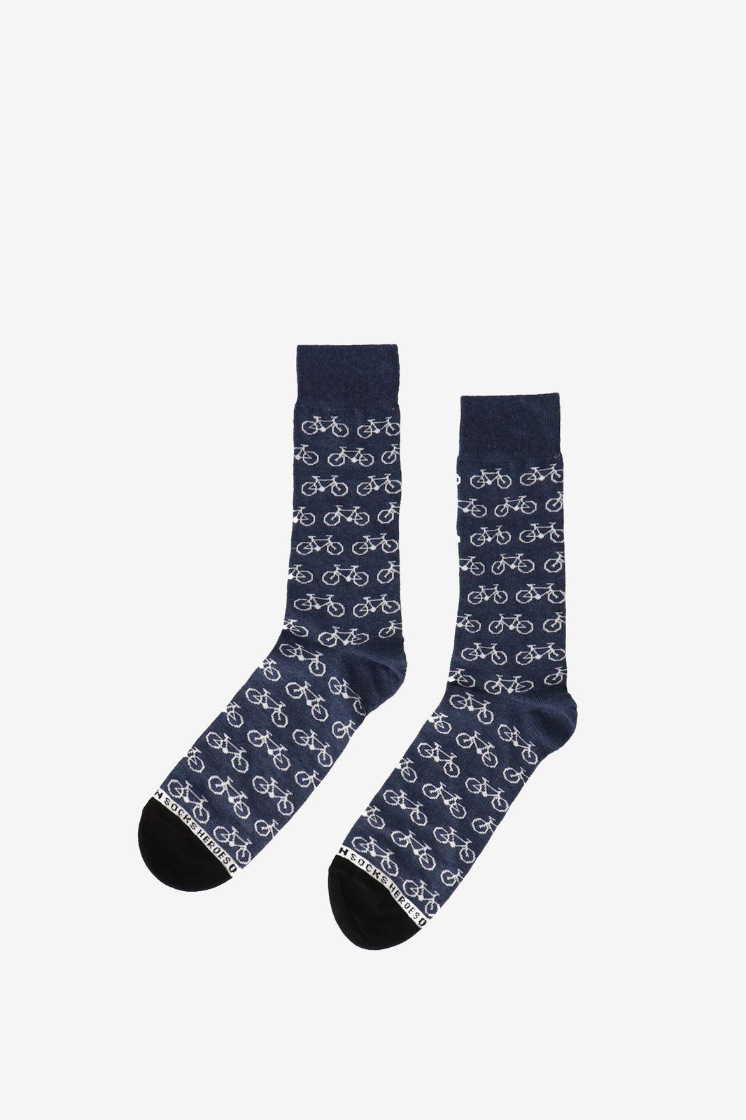 Heroes on Socks Blauwe sokken fiets blauw
