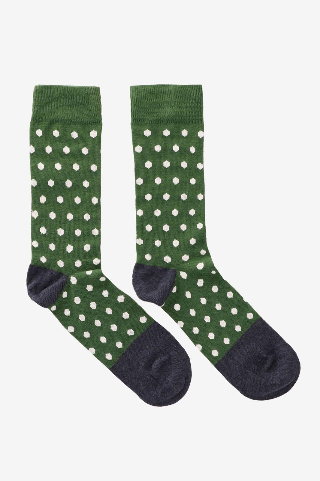 Heroes on Socks green dots sokken