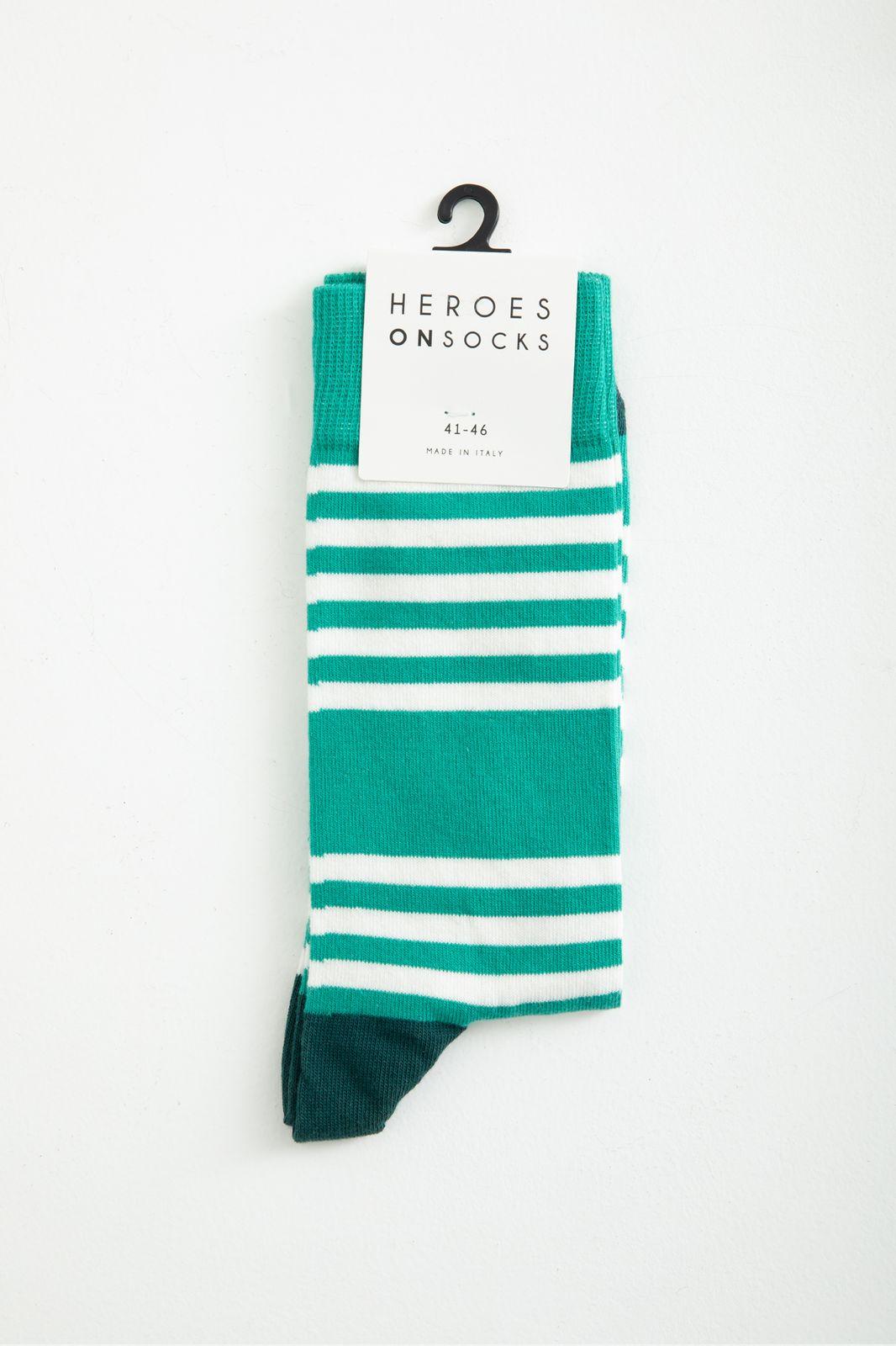 Heroes on Socks gestreepte sokken - Heren | Sissy-Boy