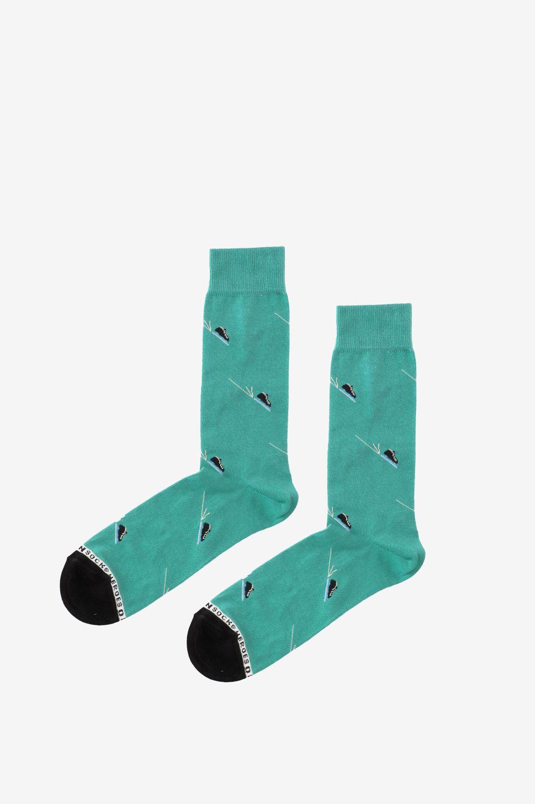 Groene sokken met schaatsen - Heren | Sissy-Boy