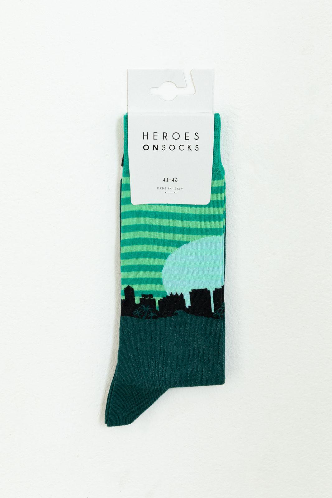 Heroes on Socks Honolulu Green