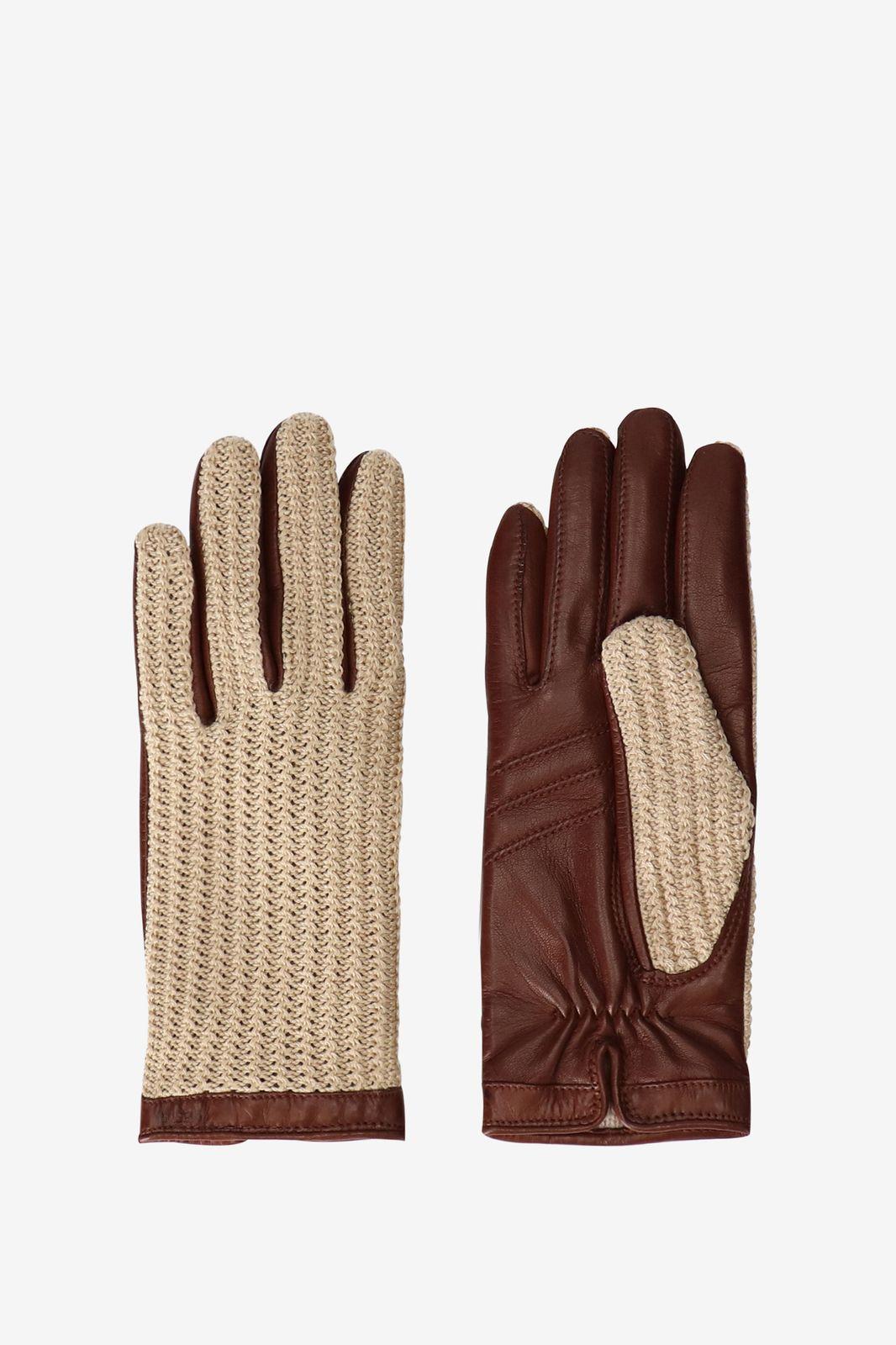 Hestra leren handschoenen bruin - Dames | Sissy-Boy
