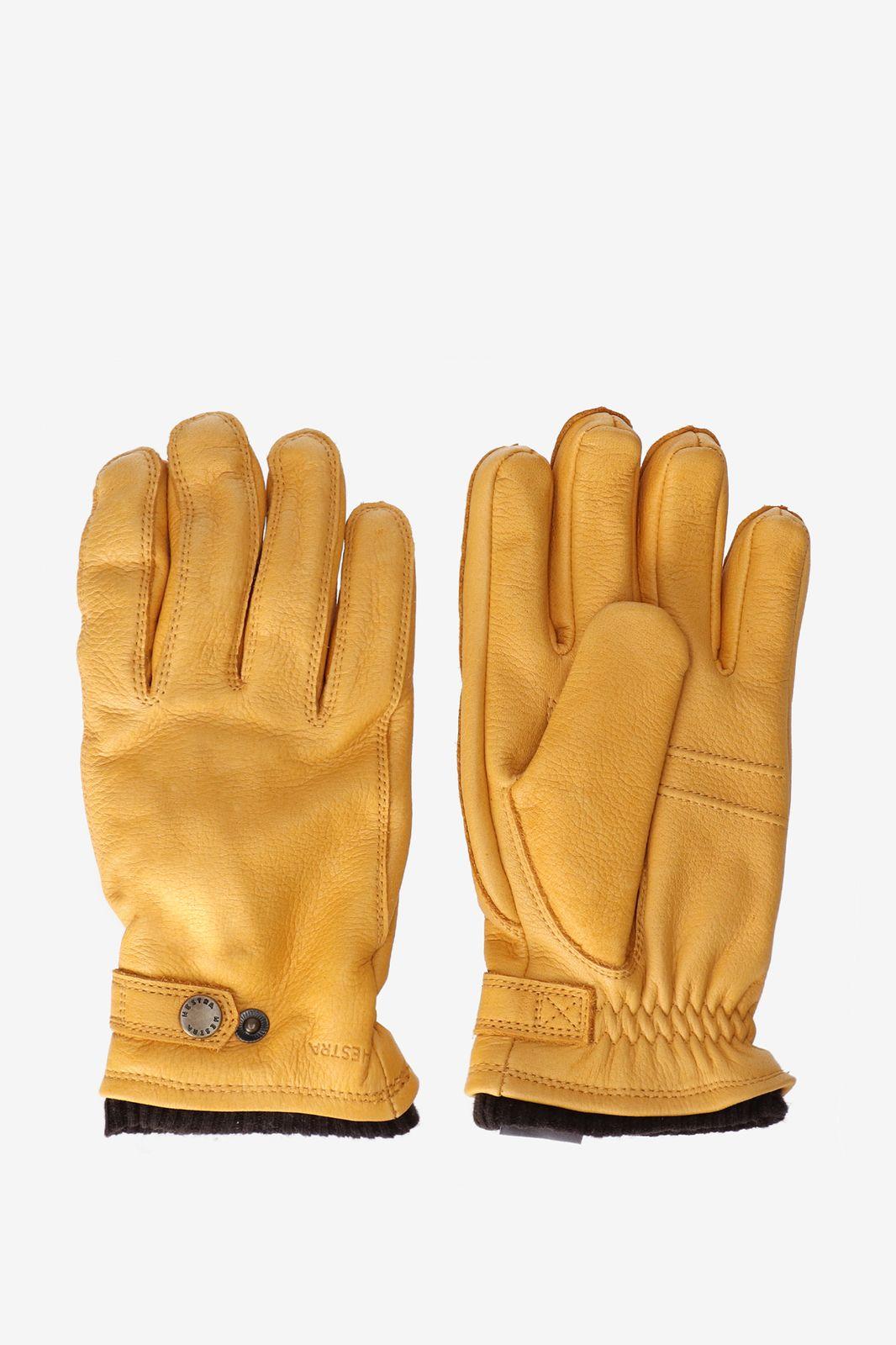Hestra leren handschoenen okergeel - Heren | Sissy-Boy
