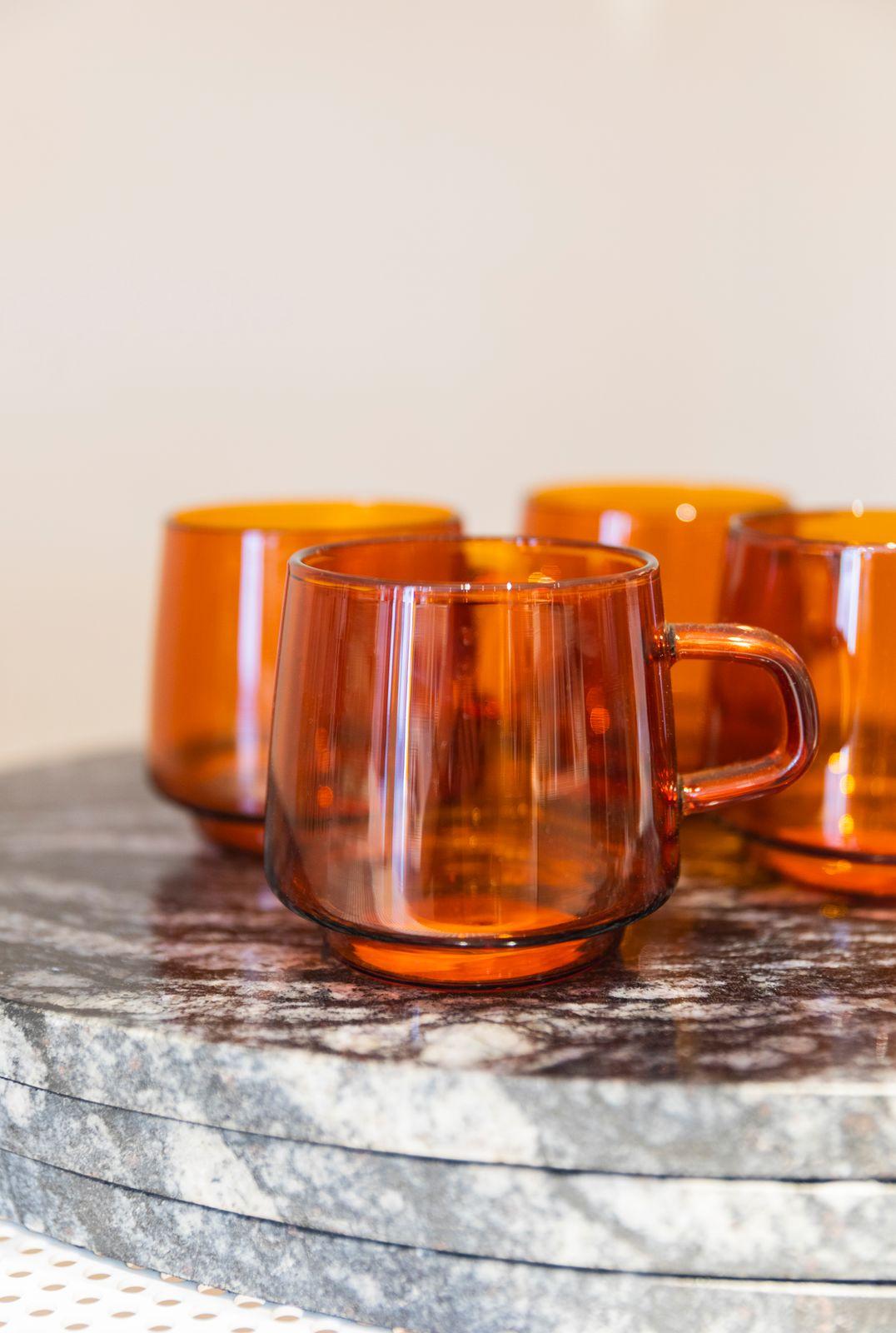 Kinto Oranje glazen kan - Homeland | Sissy-Boy