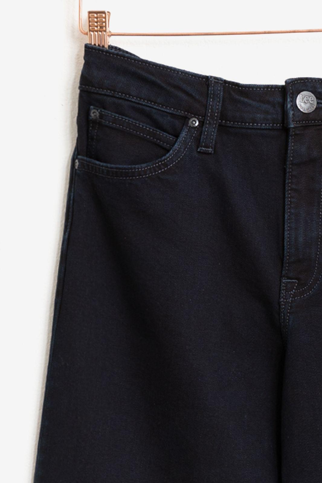 LEE  donkerblauwe jeans Wide Leg Clean Ballad - Dames | Sissy-Boy