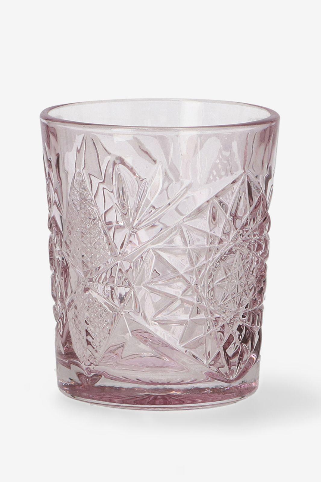 Libbey donkerroze Hobstar glas
