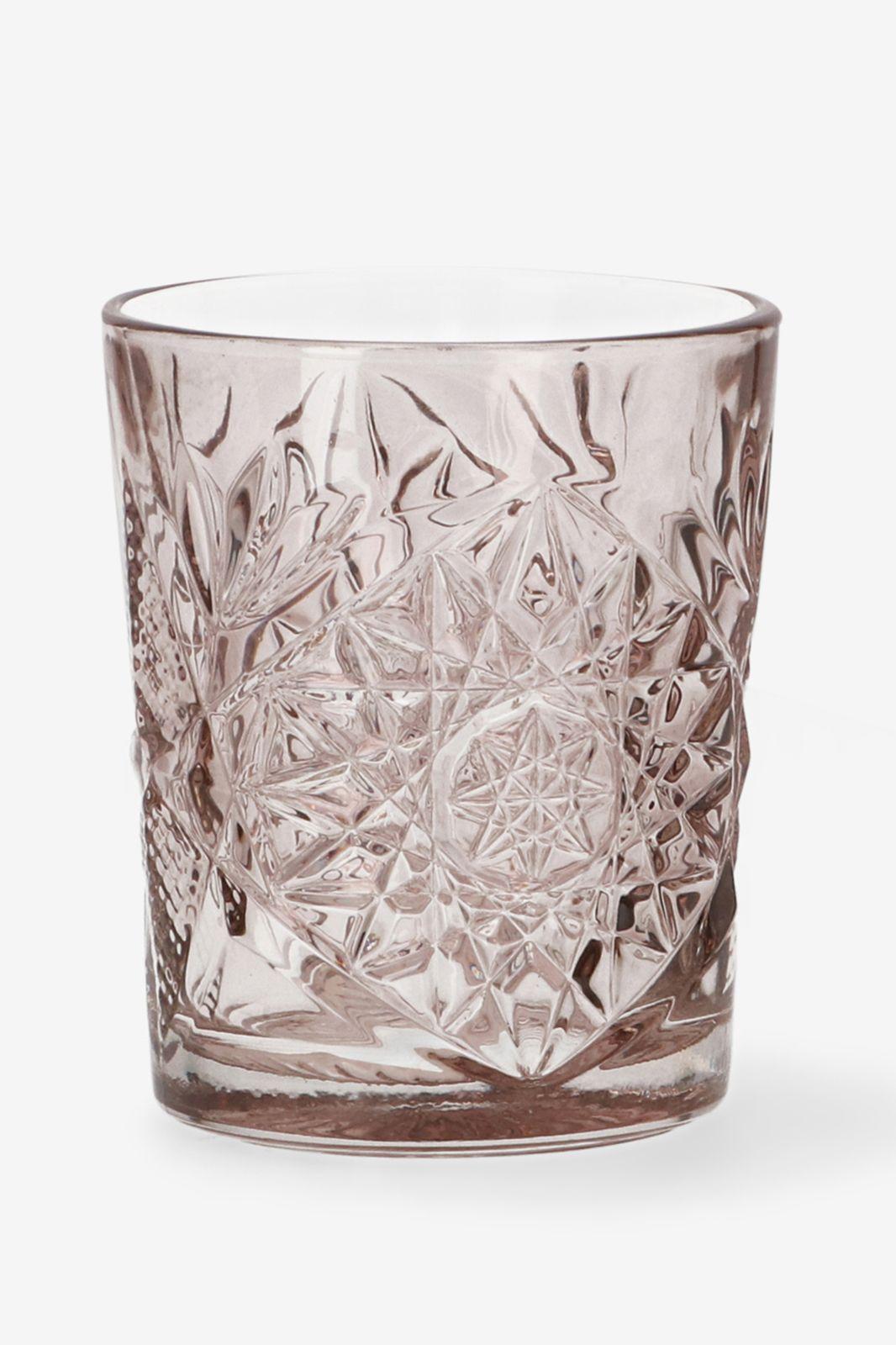 Libbey roze glas Hobstar