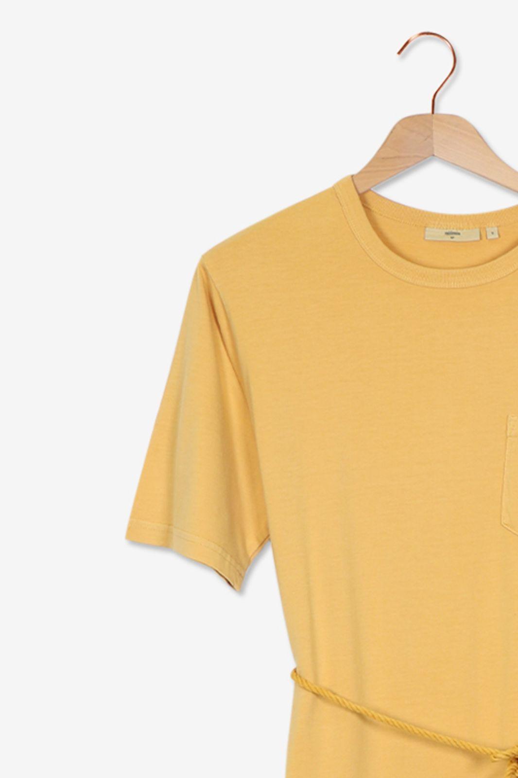 Minimum Gele jurk met taille koord - Dames | Sissy-Boy