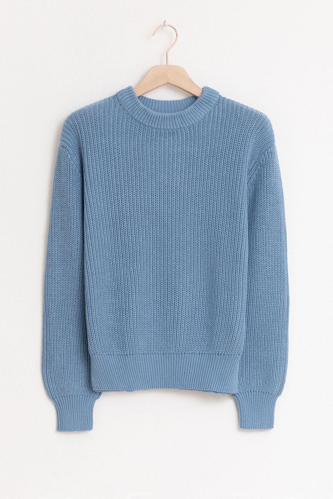 Minimum blauwe essential trui - Dames | Sissy-Boy