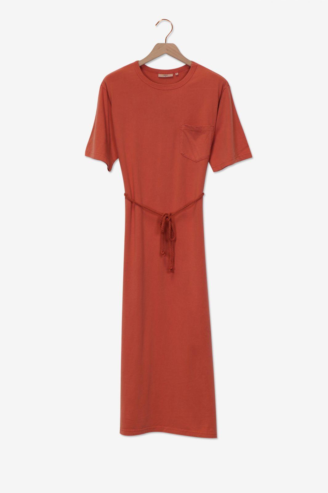 Minimum Rode jurk met taille koord - Dames | Sissy-Boy