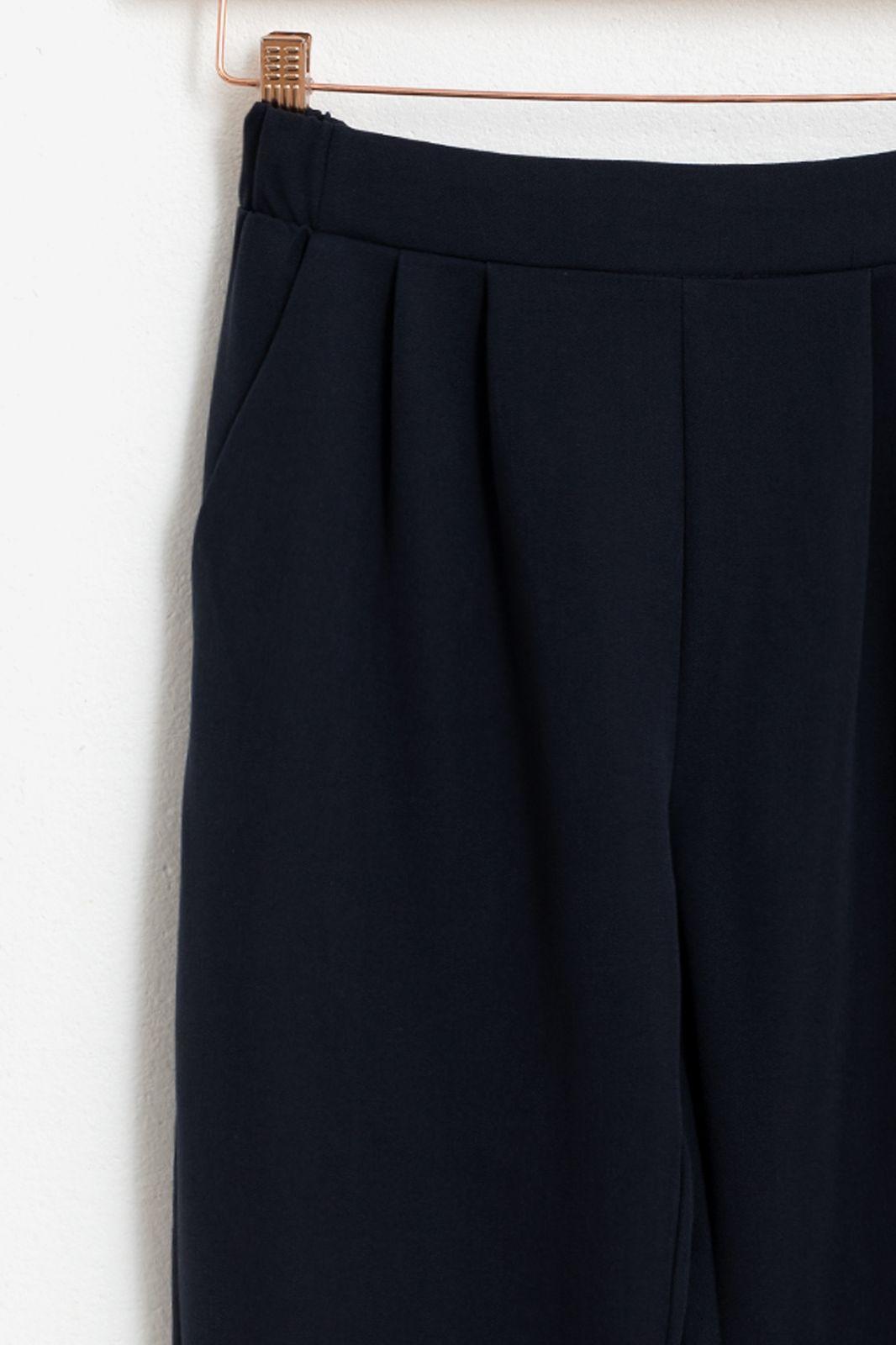 MINIMUM donkerblauwe paperbag broek Sofja