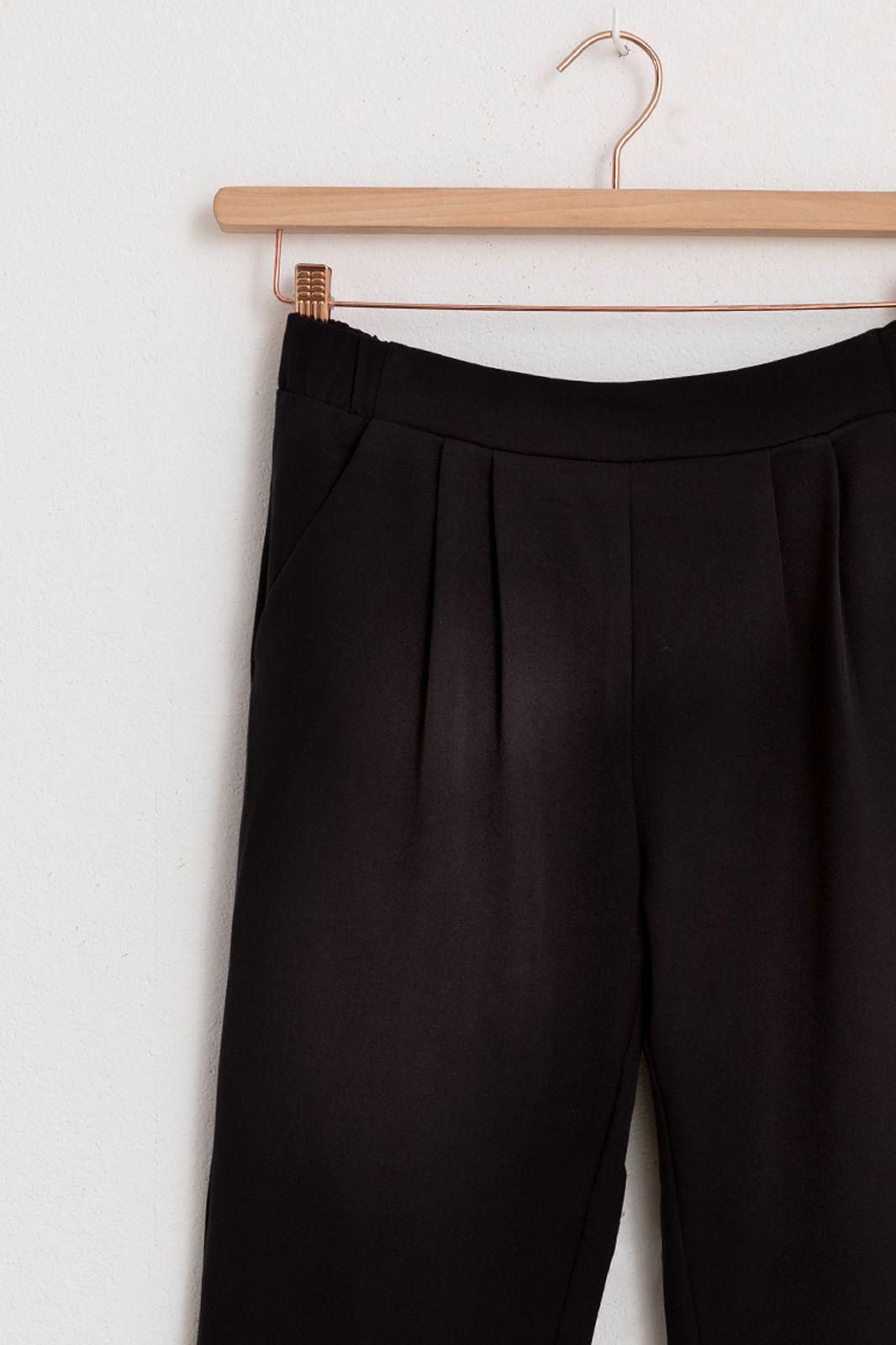 Minimum zwarte paperbag broek - Dames | Sissy-Boy