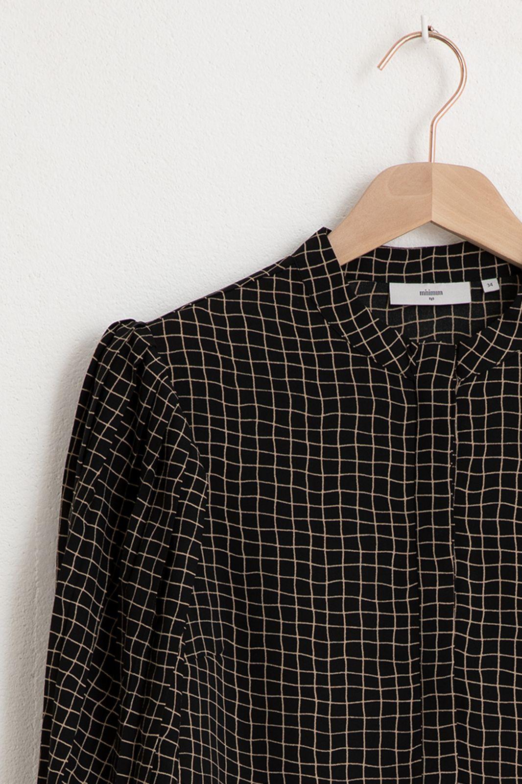 Mimimum zwarte blouse met ruiten - Dames | Sissy-Boy