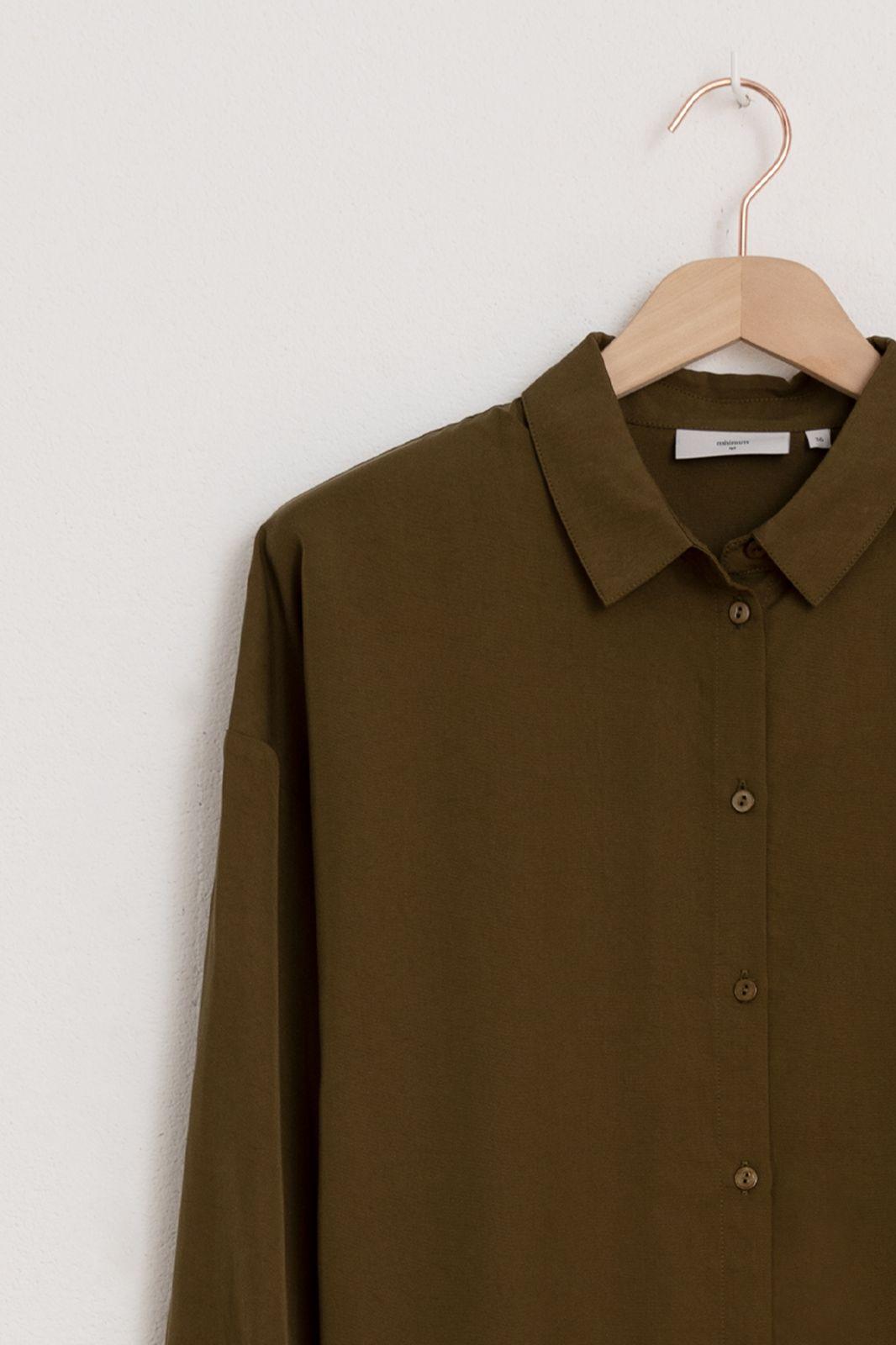 Minimum groene blouse koko long sleeved 4054 - Dames   Sissy-Boy