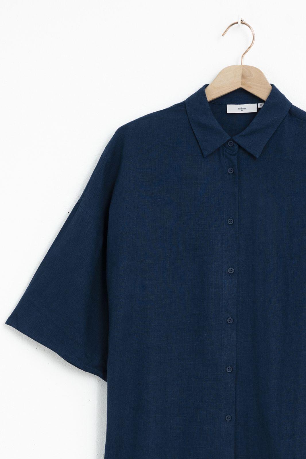 Minimum blouse Berya 8082 blauw - Dames | Sissy-Boy