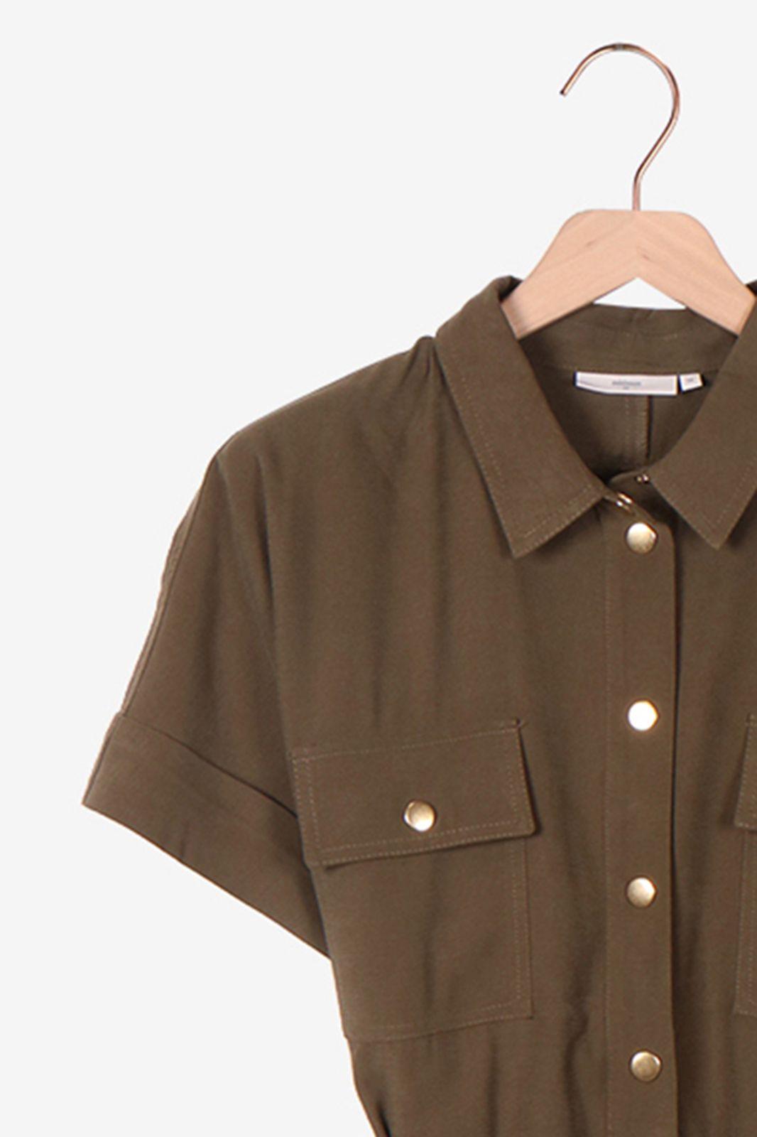 Minimum jumpsuit donkergroen - Dames | Sissy-Boy