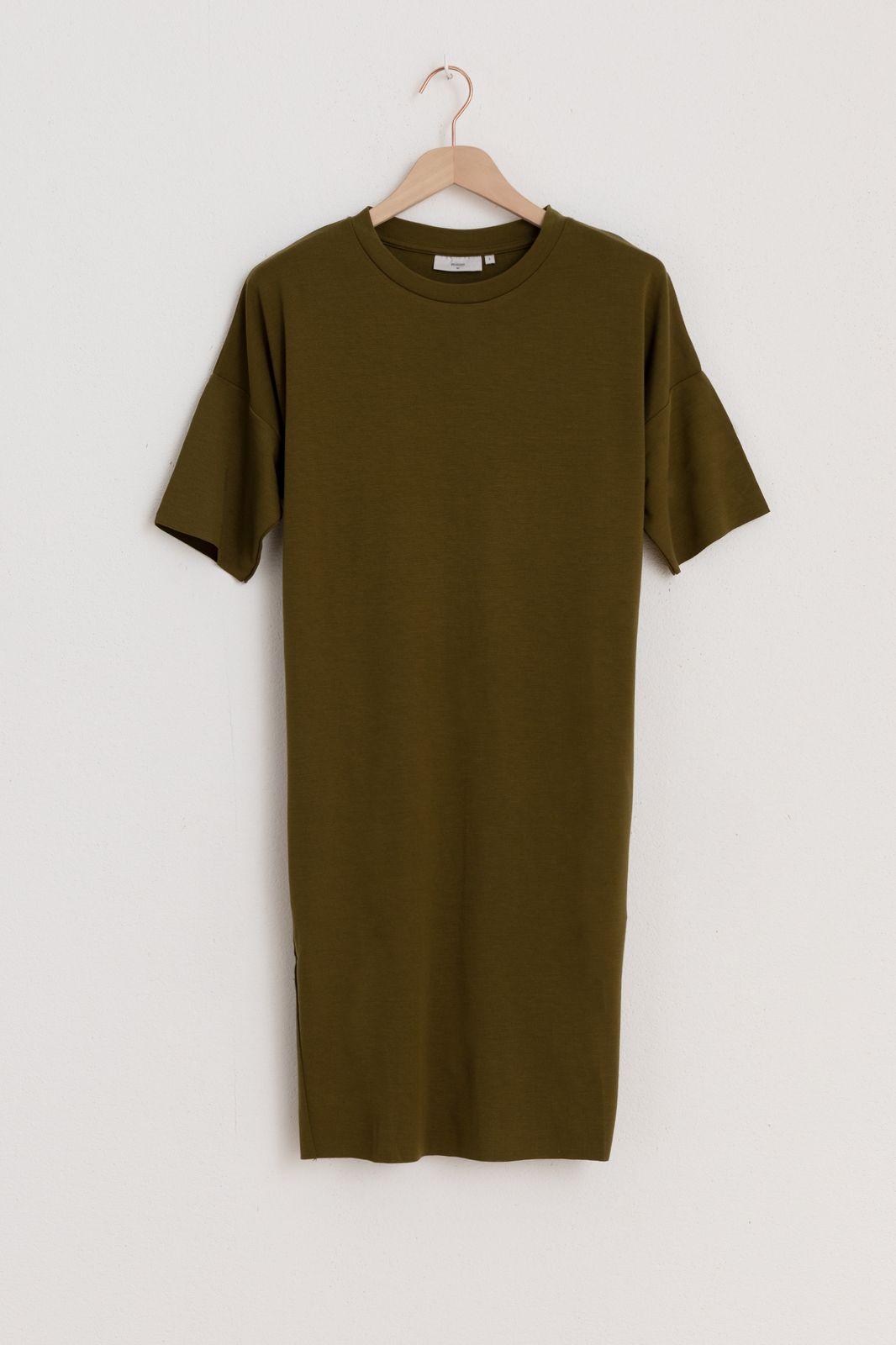 Minimum donkergroene jurk regitza 0265