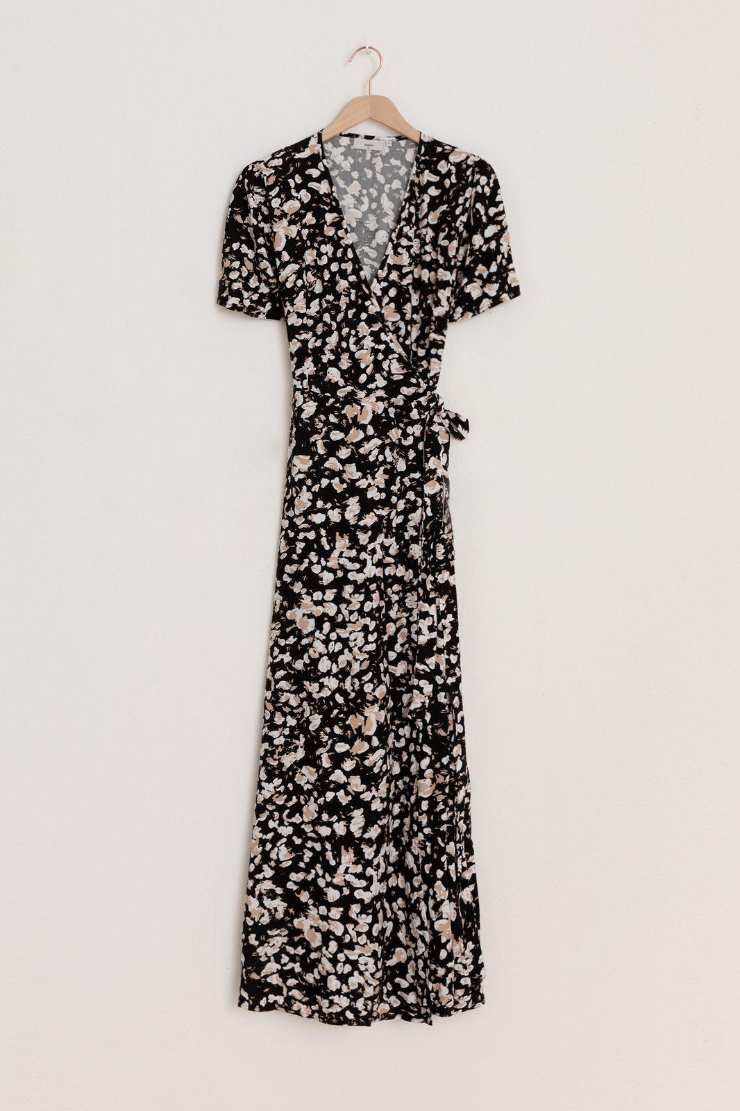 Minimum zwarte maxi jurk elastica 7146 - Dames | Sissy-Boy