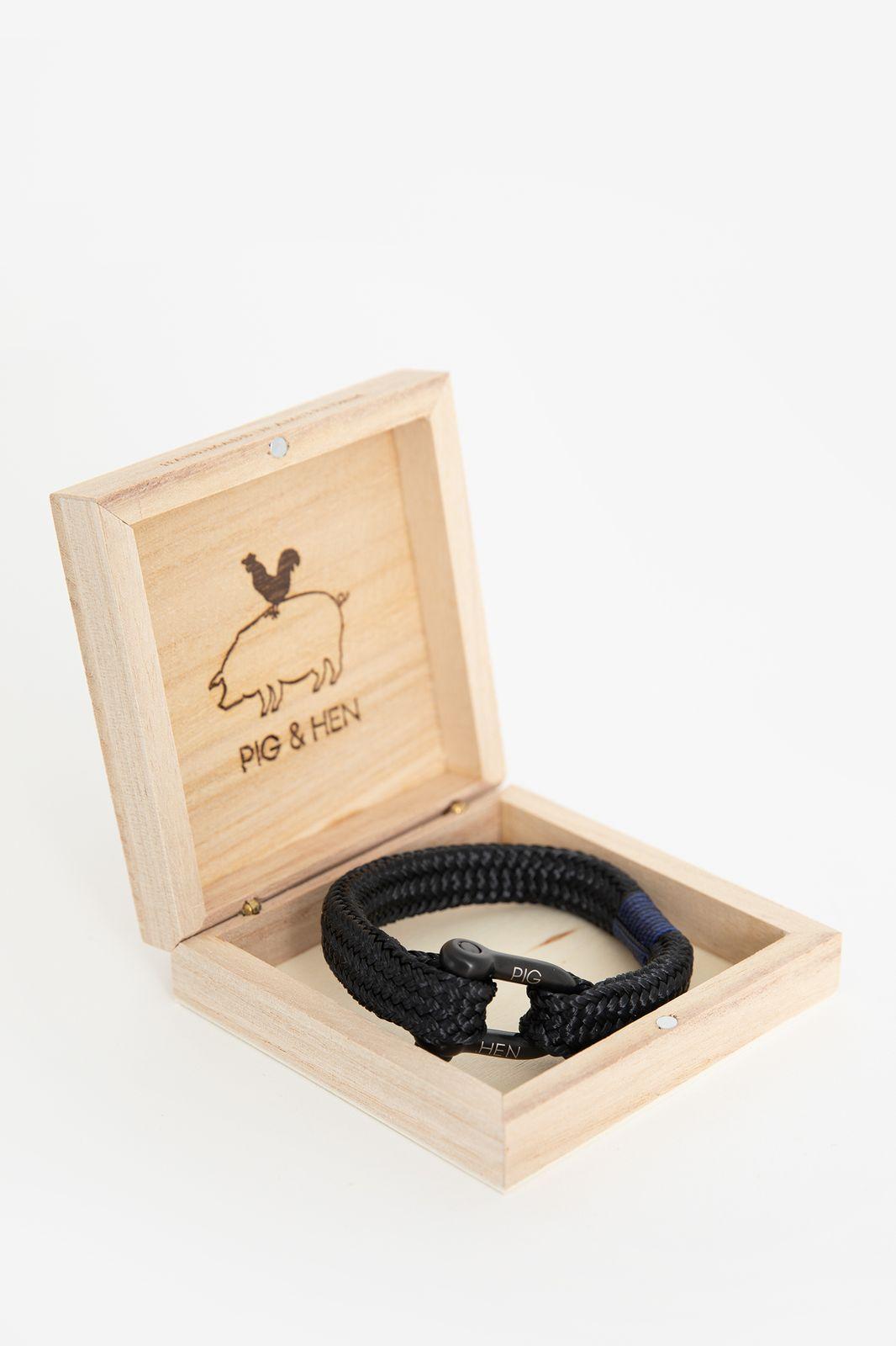 Pig & Hen Gorgeous George armband zwart - Heren | Sissy-Boy