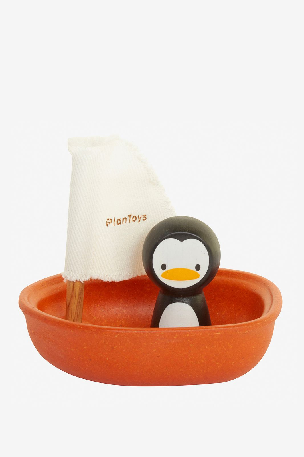 Plantoys Zeilboot met pinguïn